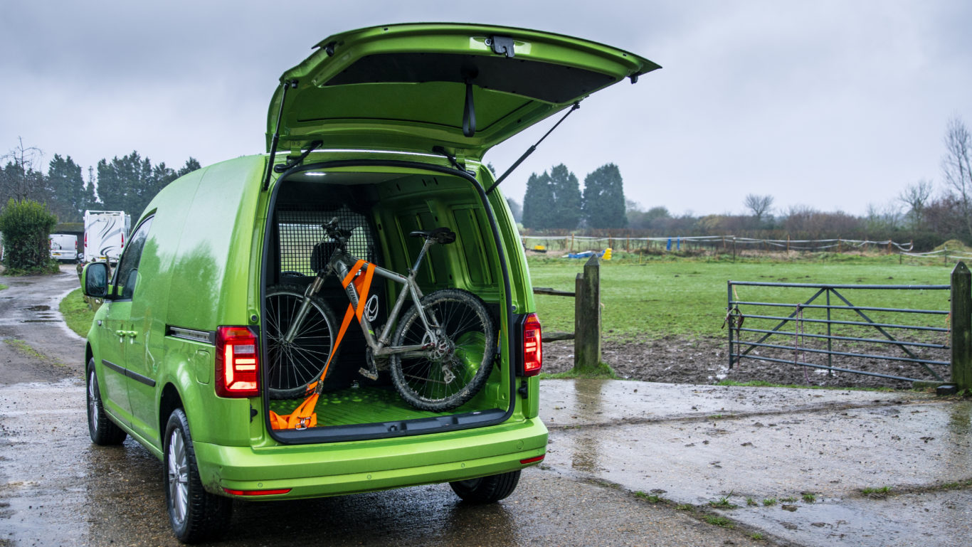 There's enough space in the Caddy for a mountain bike