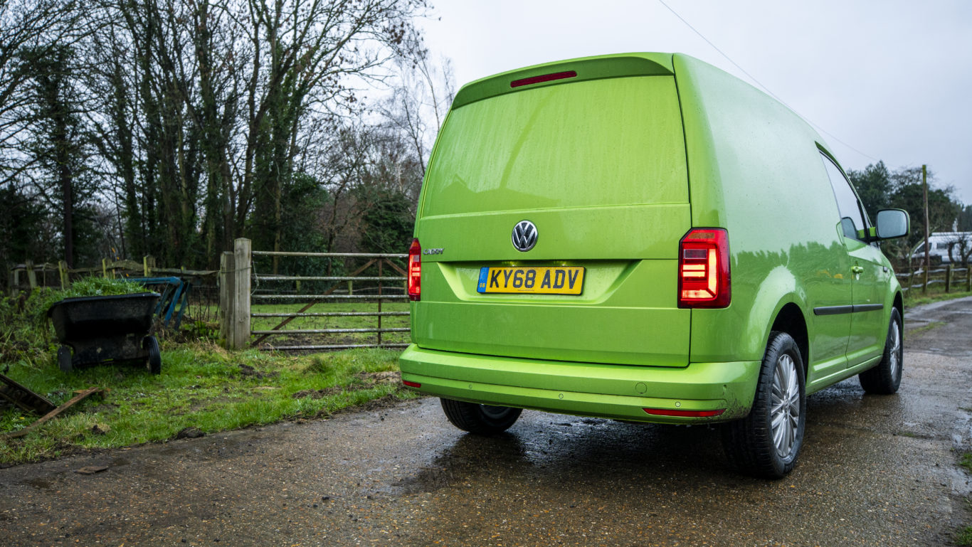 A large tailgate makes accessing the rear of the van easy