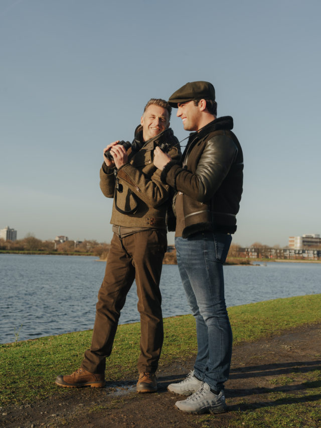 Chris Packham and Jack Fincham