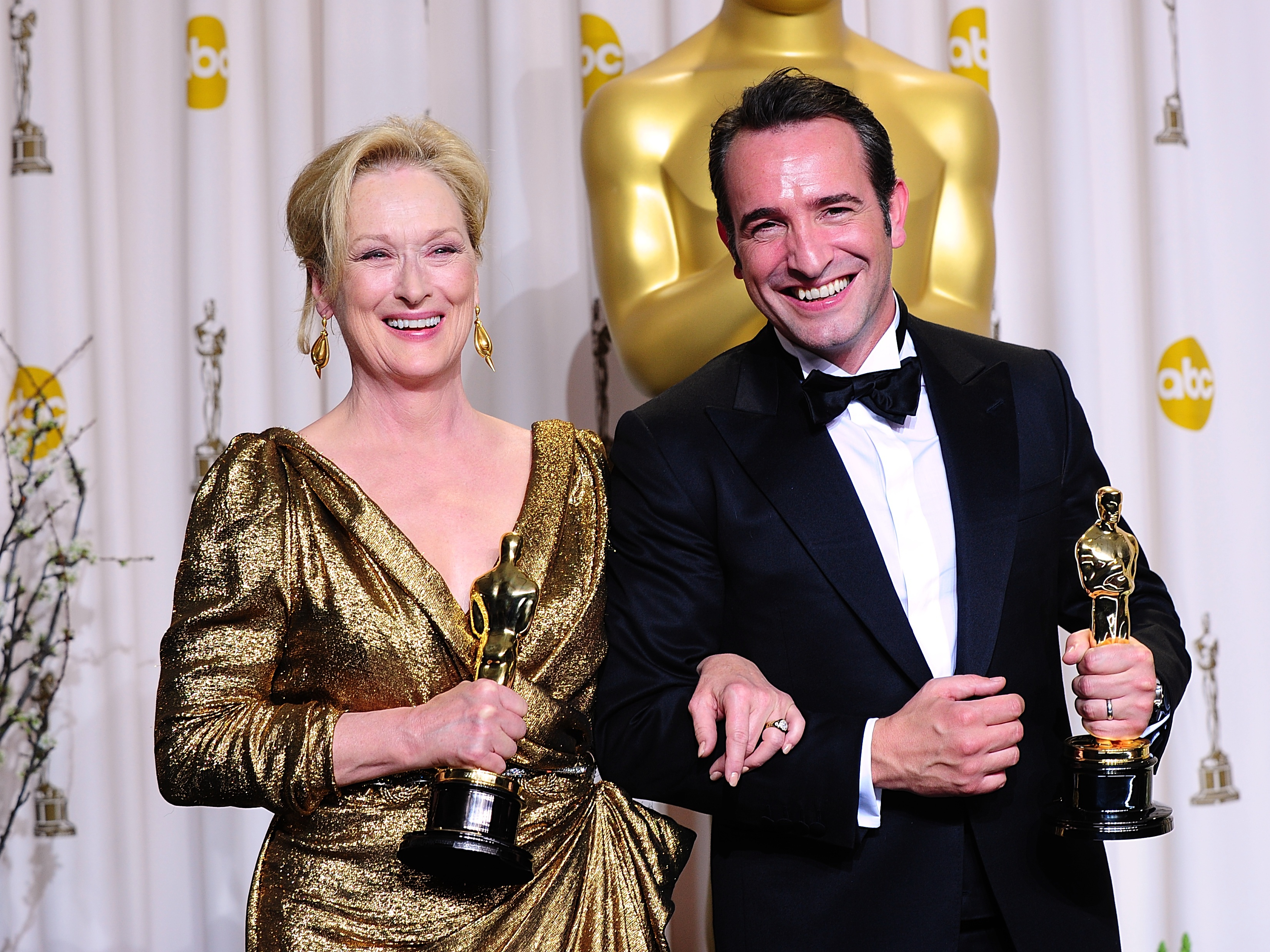 Jean Dujardin and Meryl Streep at the 84th Academy Awards