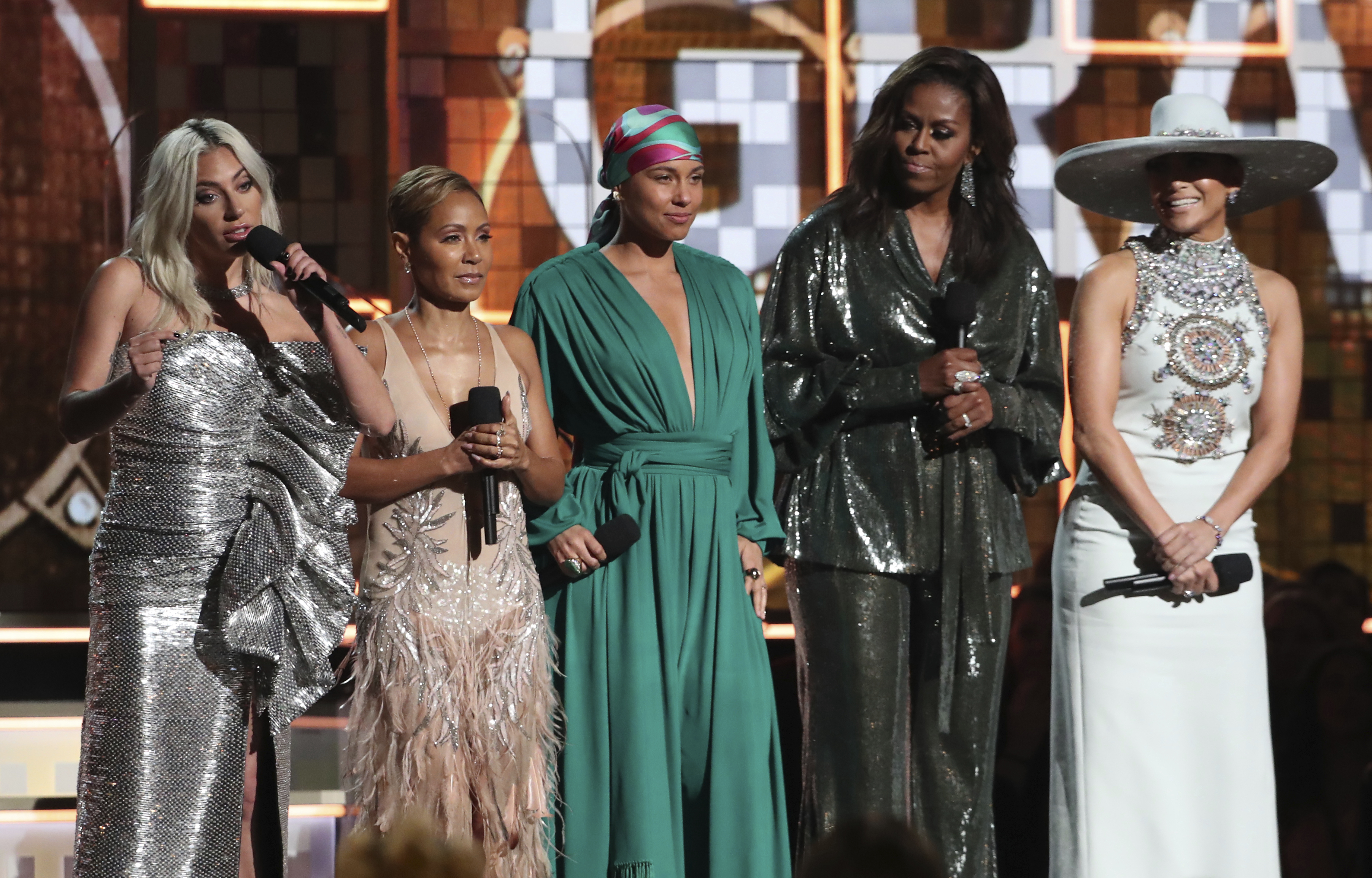 Lady Gaga, Jada Pinkett Smith, Alicia Keys, Michelle Obama and Jennifer Lopez
