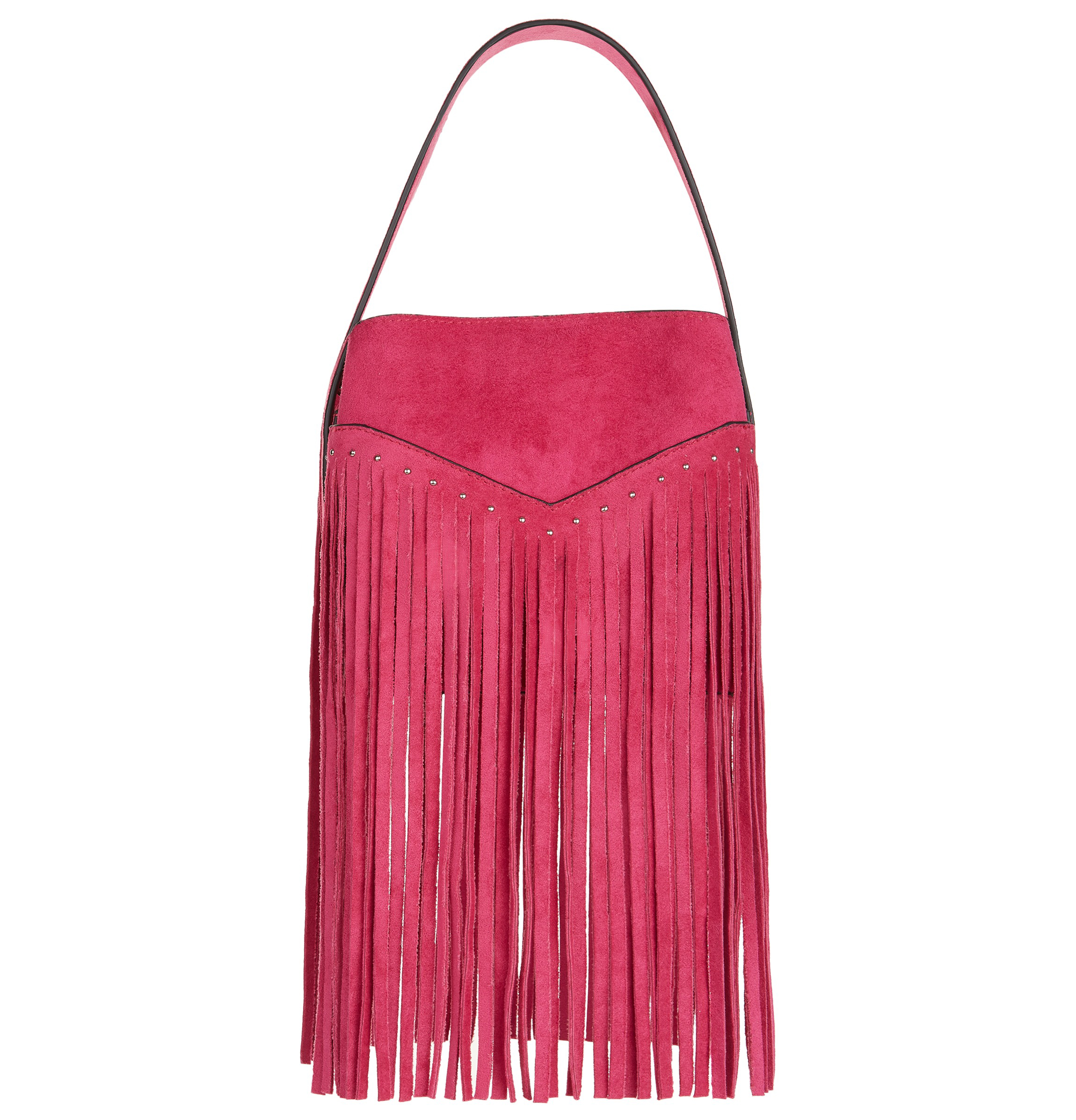 New Look Pink Suede Fringe Bag