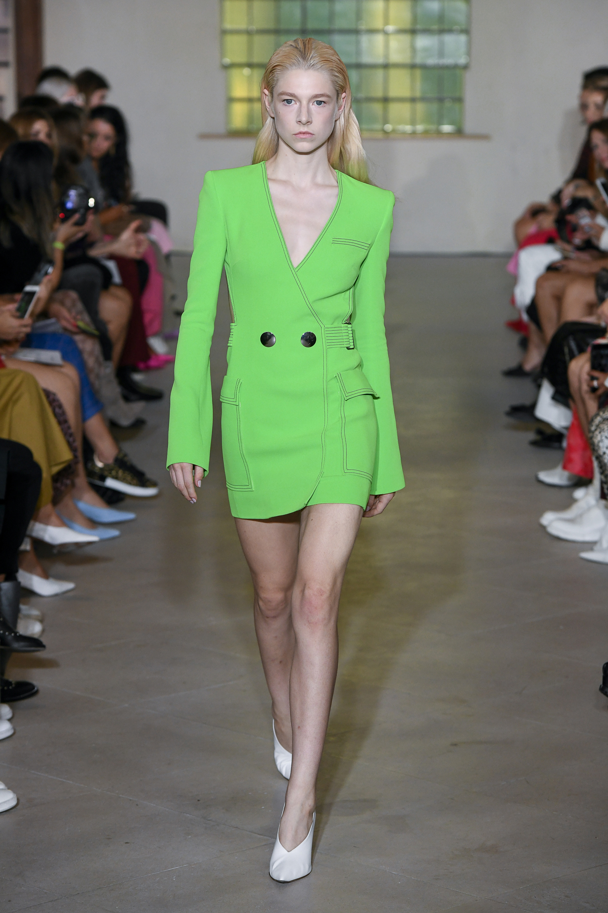 model on the catwalk at David Koma SS19 at London Fashion Week