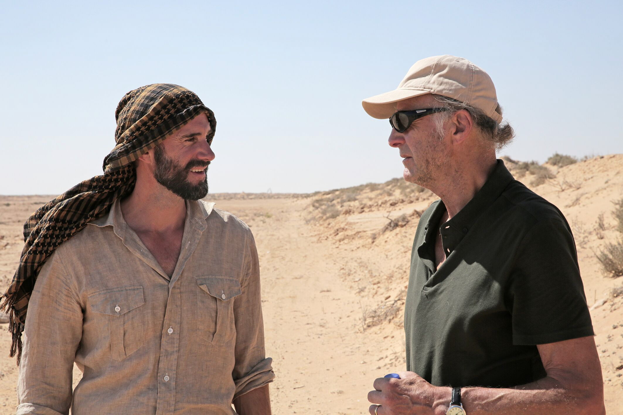 Joseph and Ranulph Fiennes (National Geographic/PA)