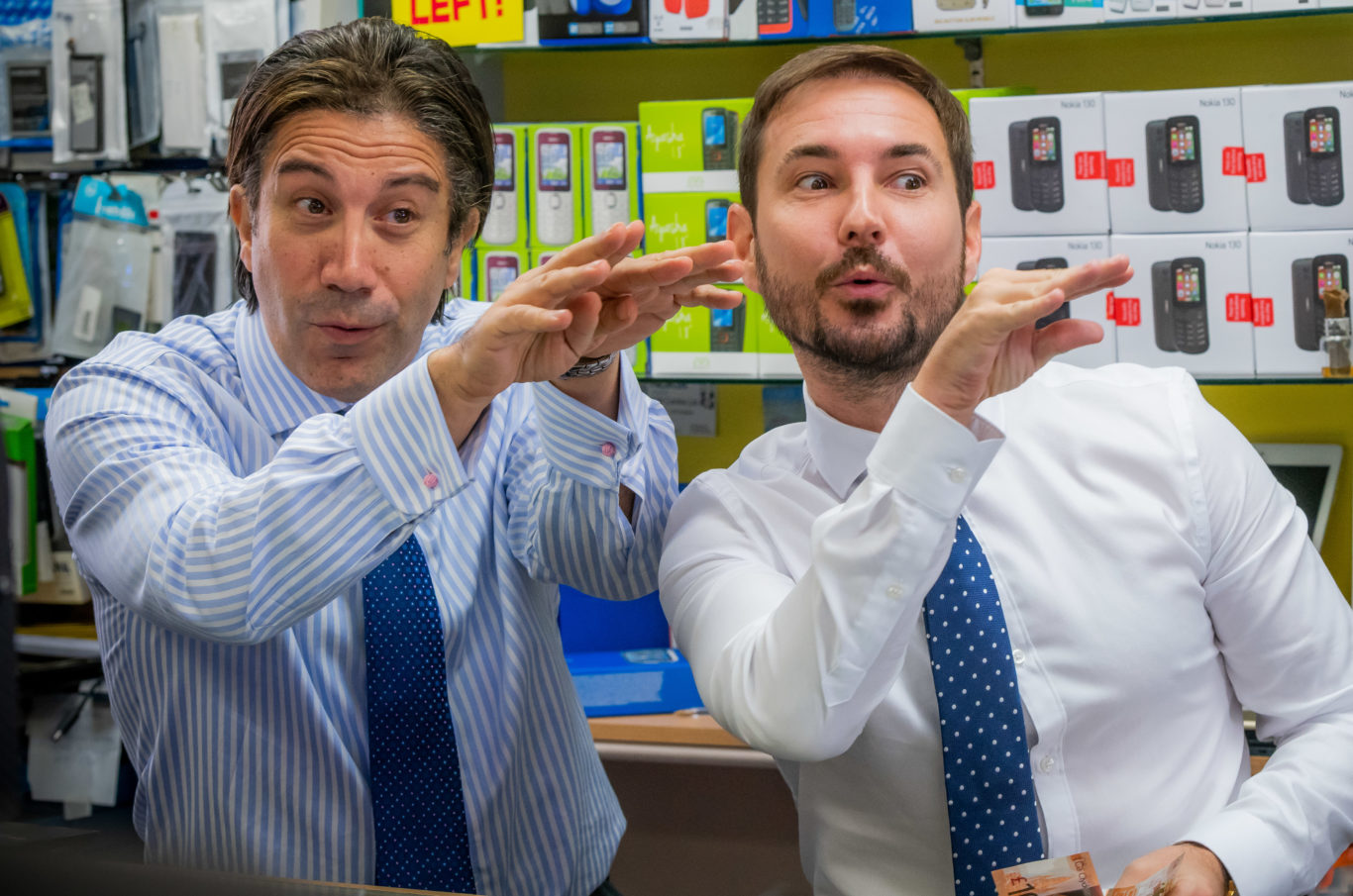 Martin Compston with Gianni Capaldi