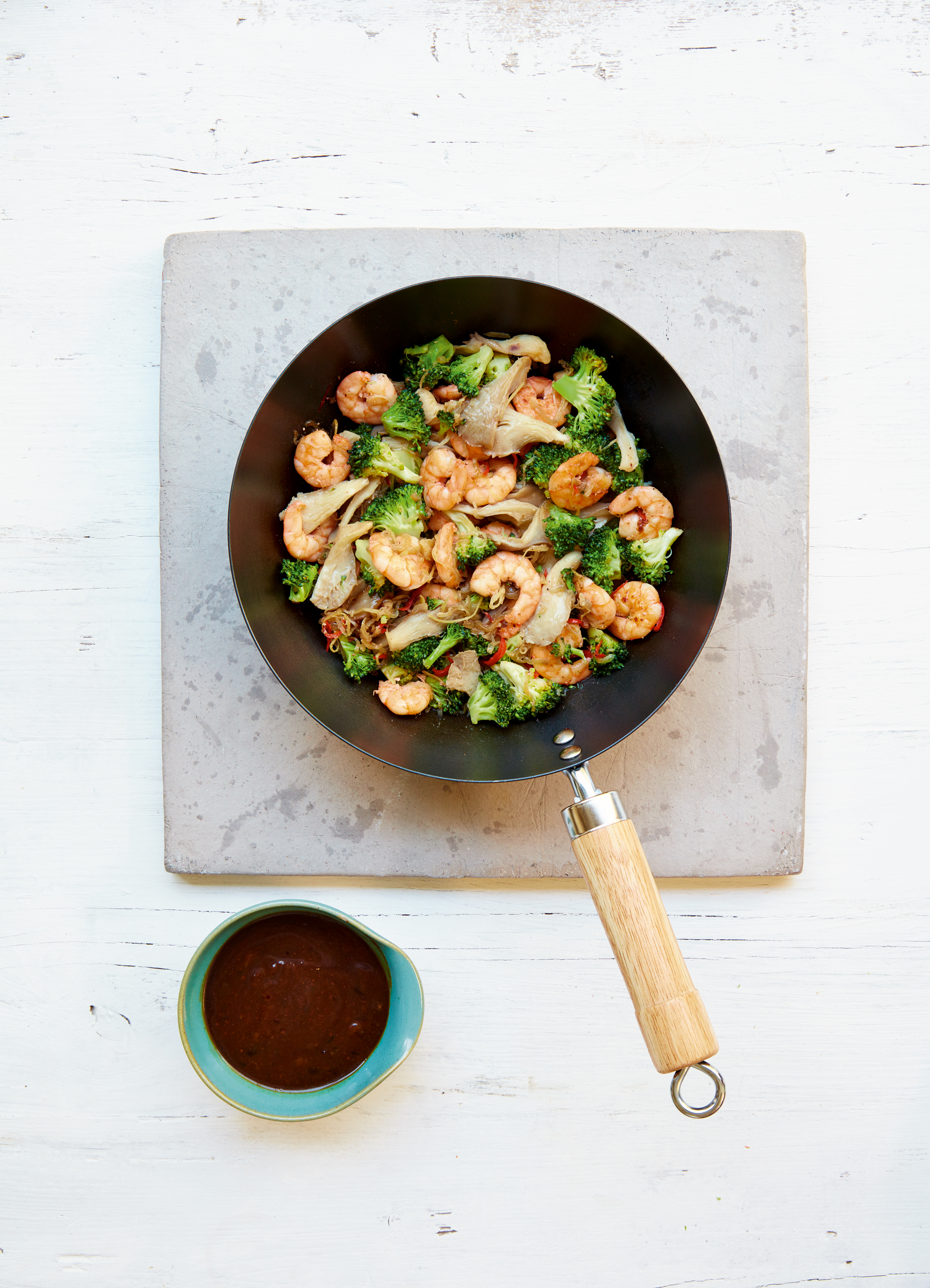 king prawn and broccoli stir fry from Mary Berry Quick Cooking (Georgia Glynn Smith/PA)