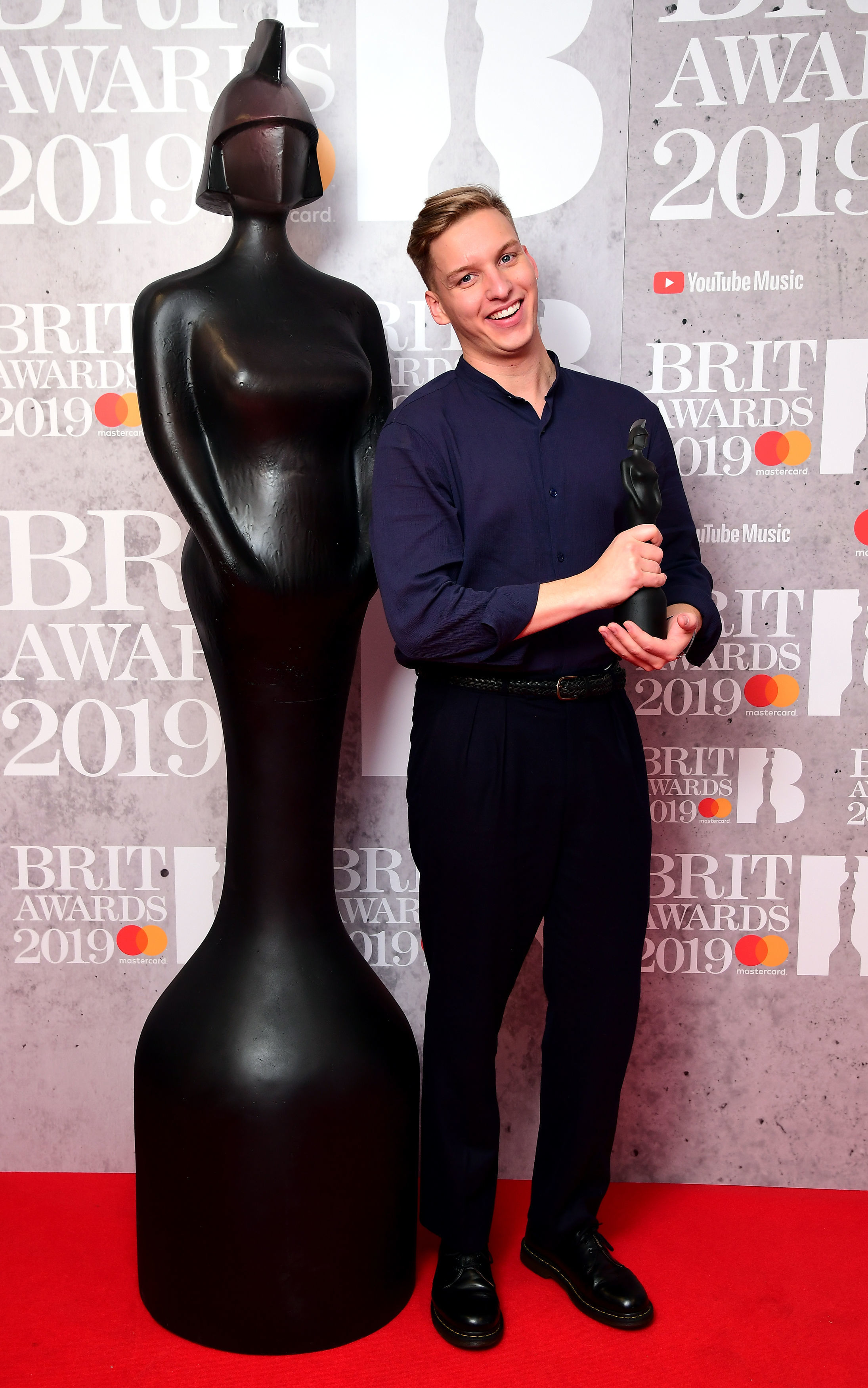 George Ezra with his Best British Male Solo Artist Brit Award