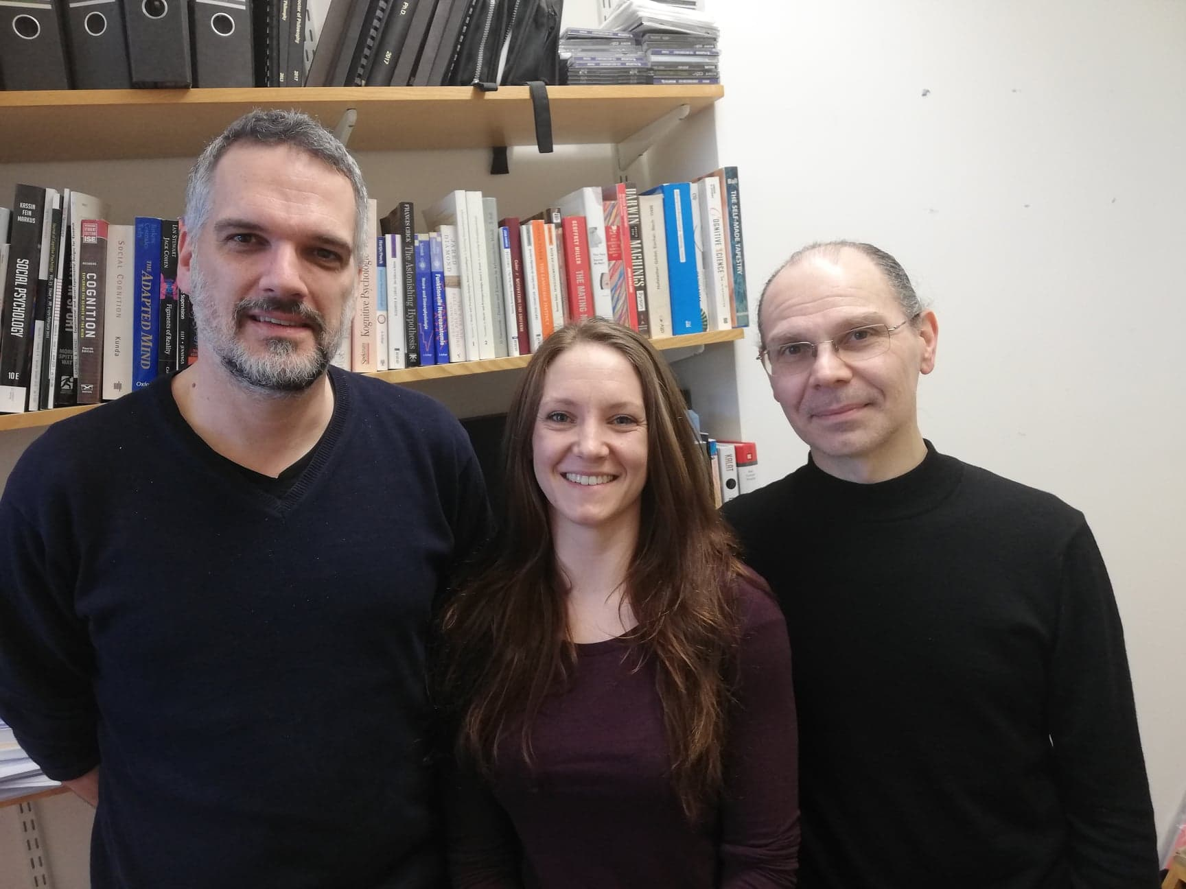 Researchers Dr Patric Bach, Eleanor Ward and Dr Giorgio Ganis (University of Plymouth/ PA)