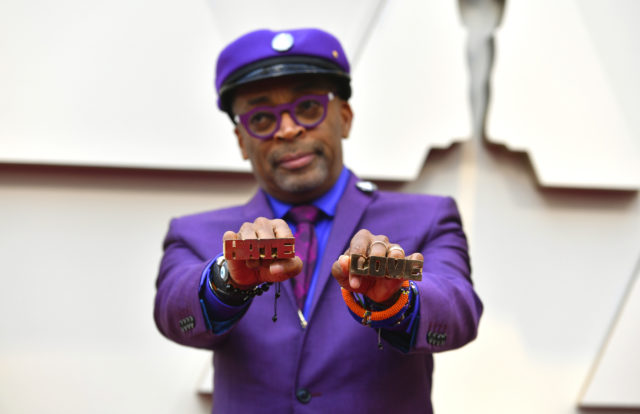 Spike Lee showing his brass knuckles