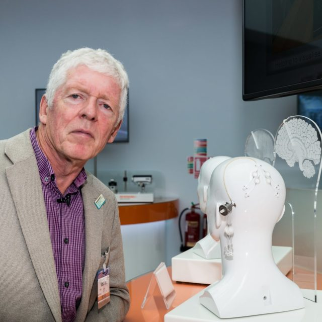 Tom Phipps was the first person to undergo the pioneering surgery (Parkinson's UK/ PA)