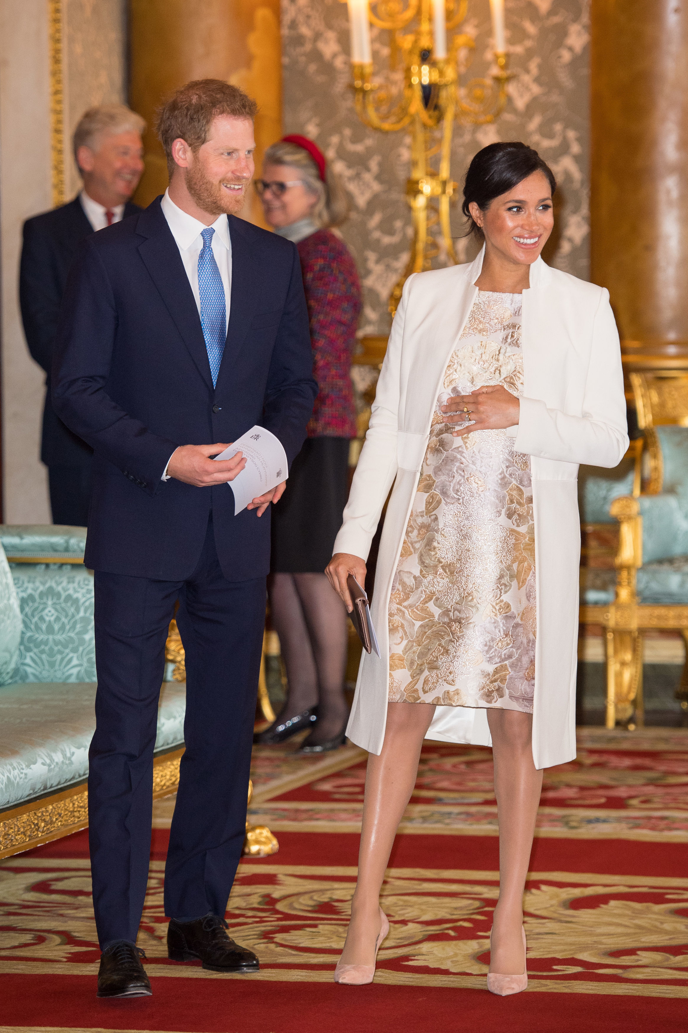 The Duke and Duchess of Sussex attend a reception at Buckingham Palace