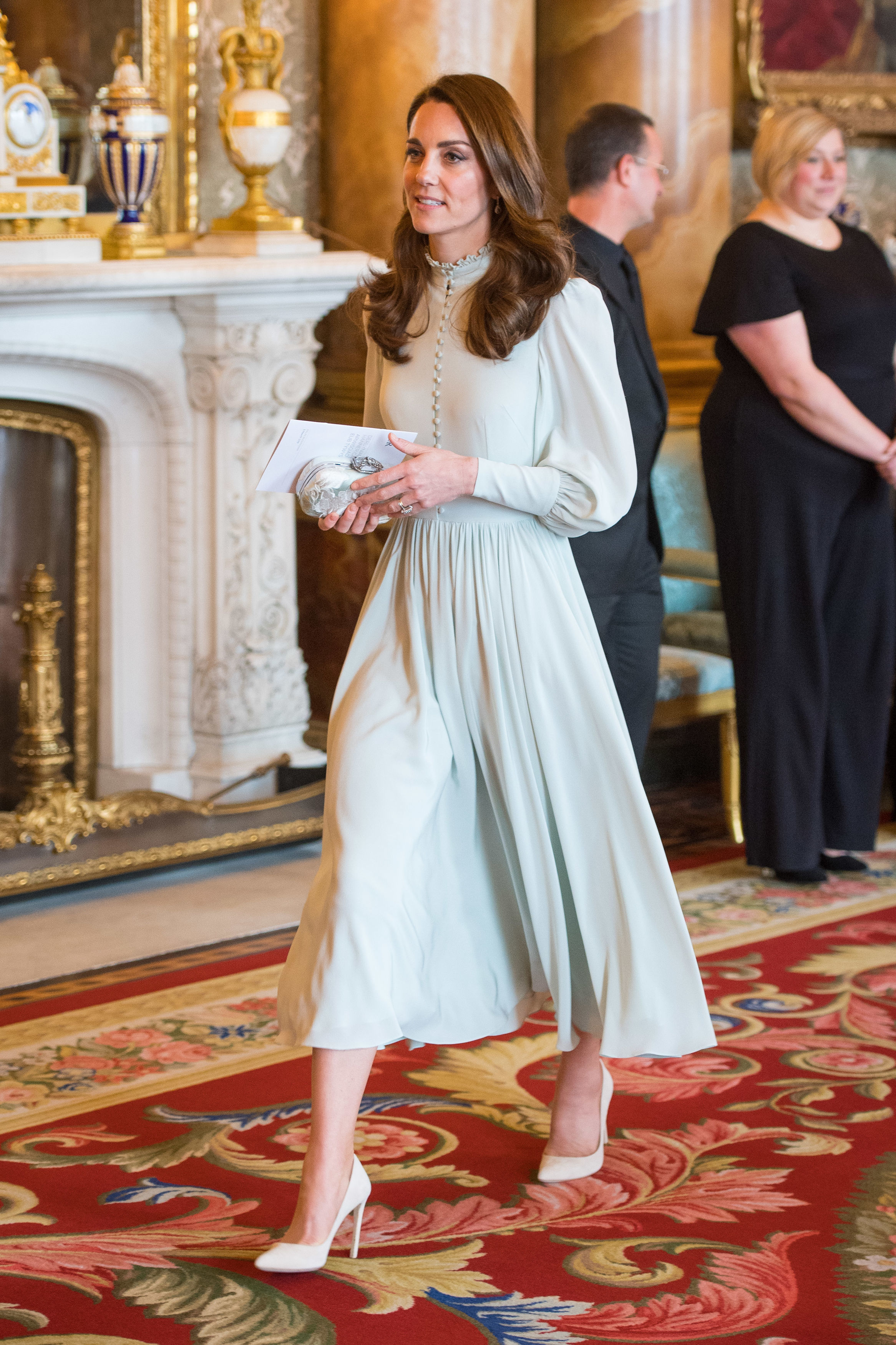 The Duchess of Cambridge attends a reception at Buckingham Palace