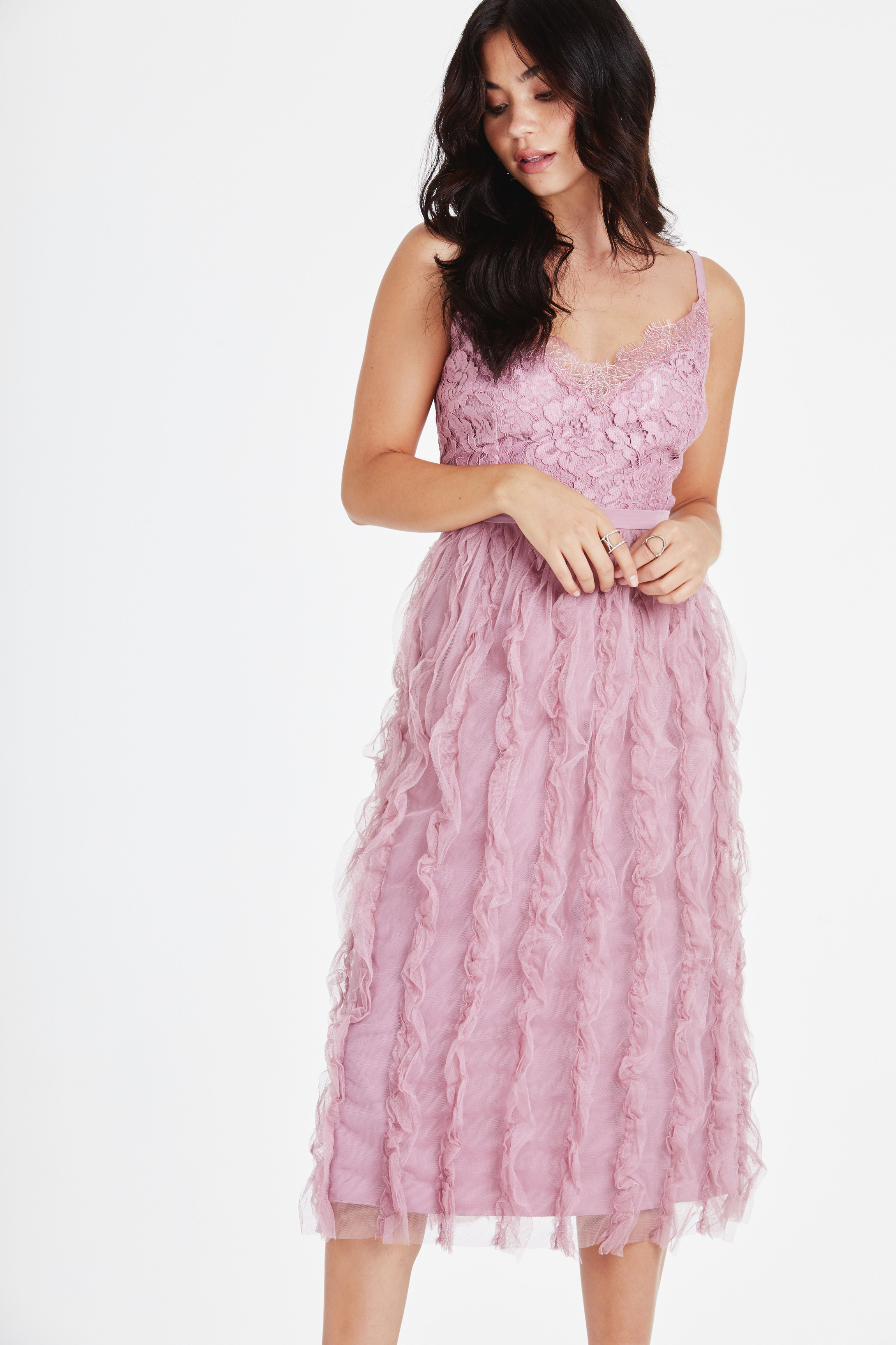 Little Mistress Blush Midi Dress