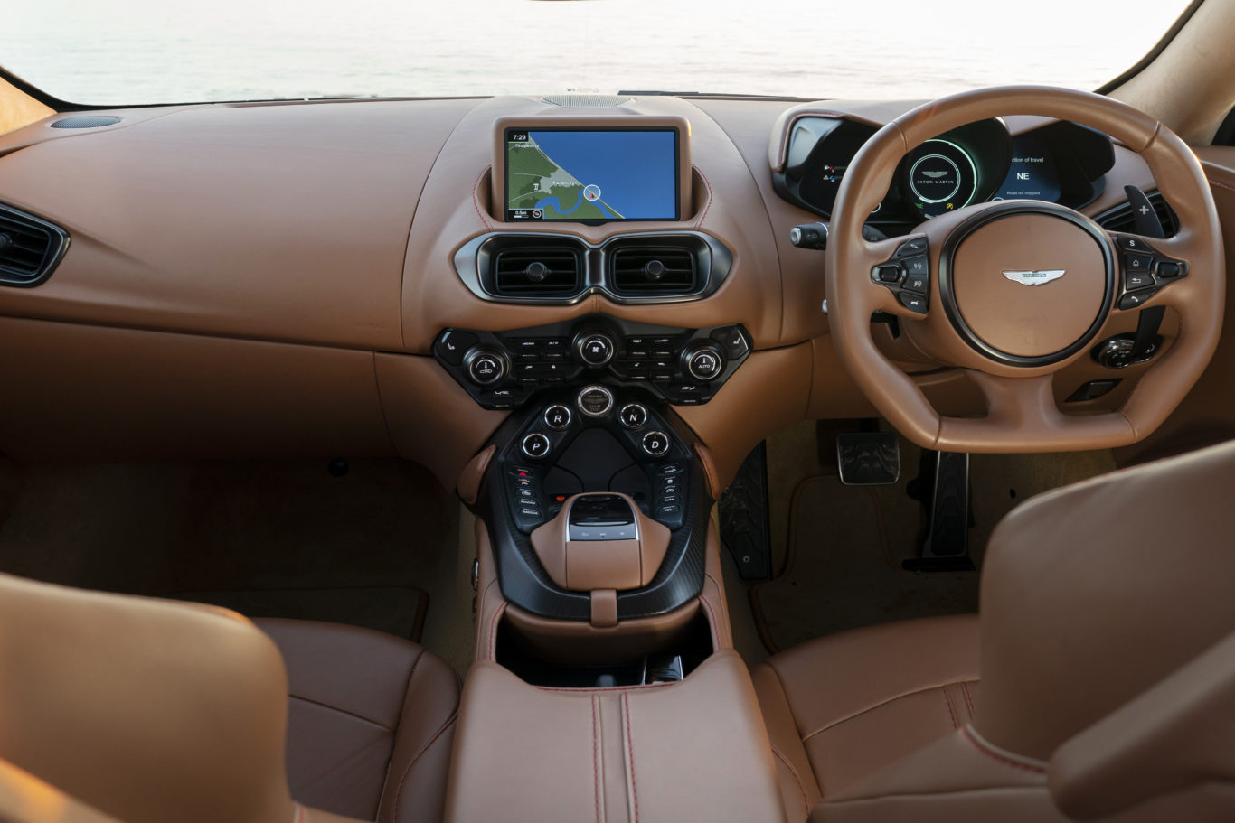 The overall cabin quality in the Vantage is excellent