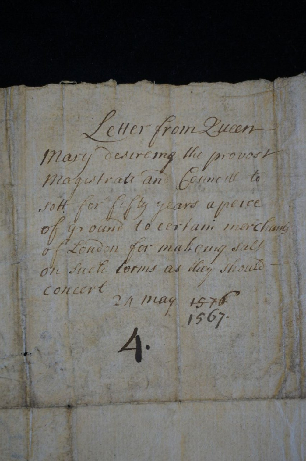 Letter from Mary Queen of Scots
