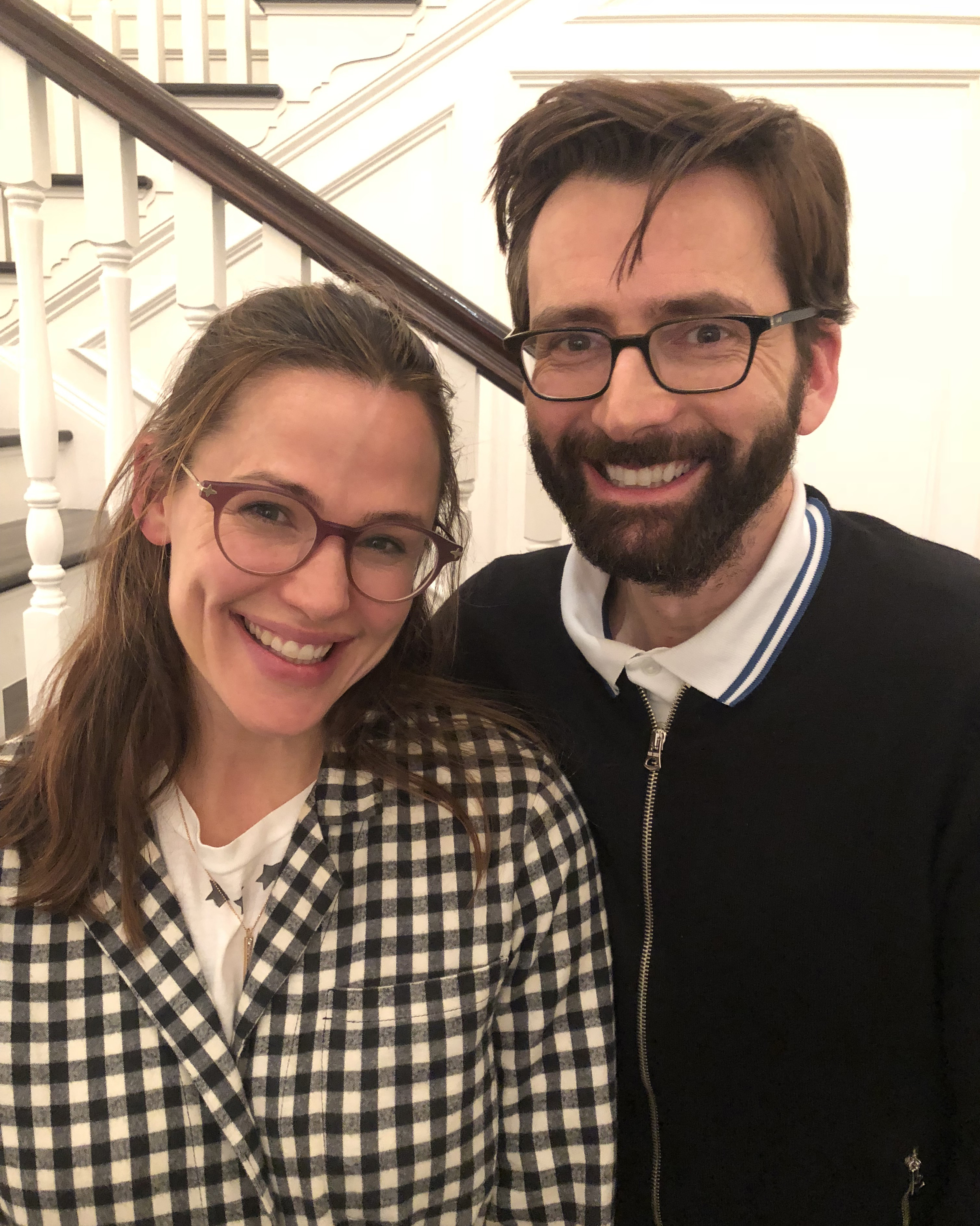 Actress Jennifer Garner recorded a podcast with David Tennant