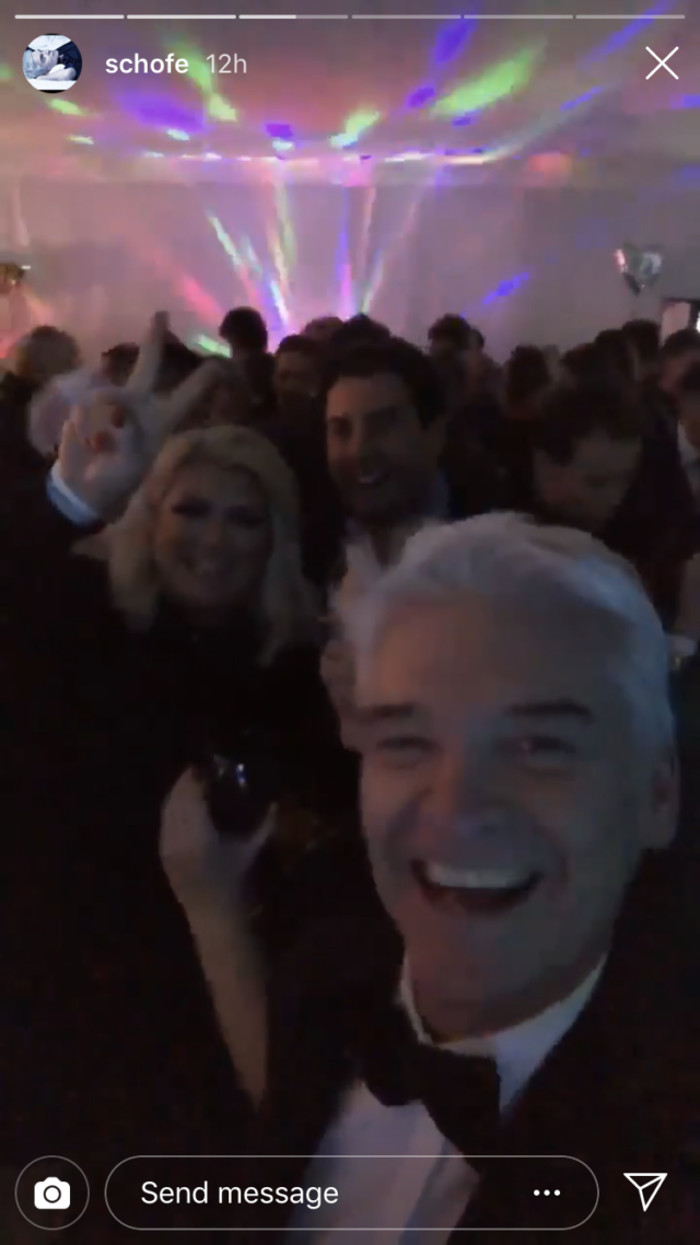 Phillip Schofield with Collins and Arg