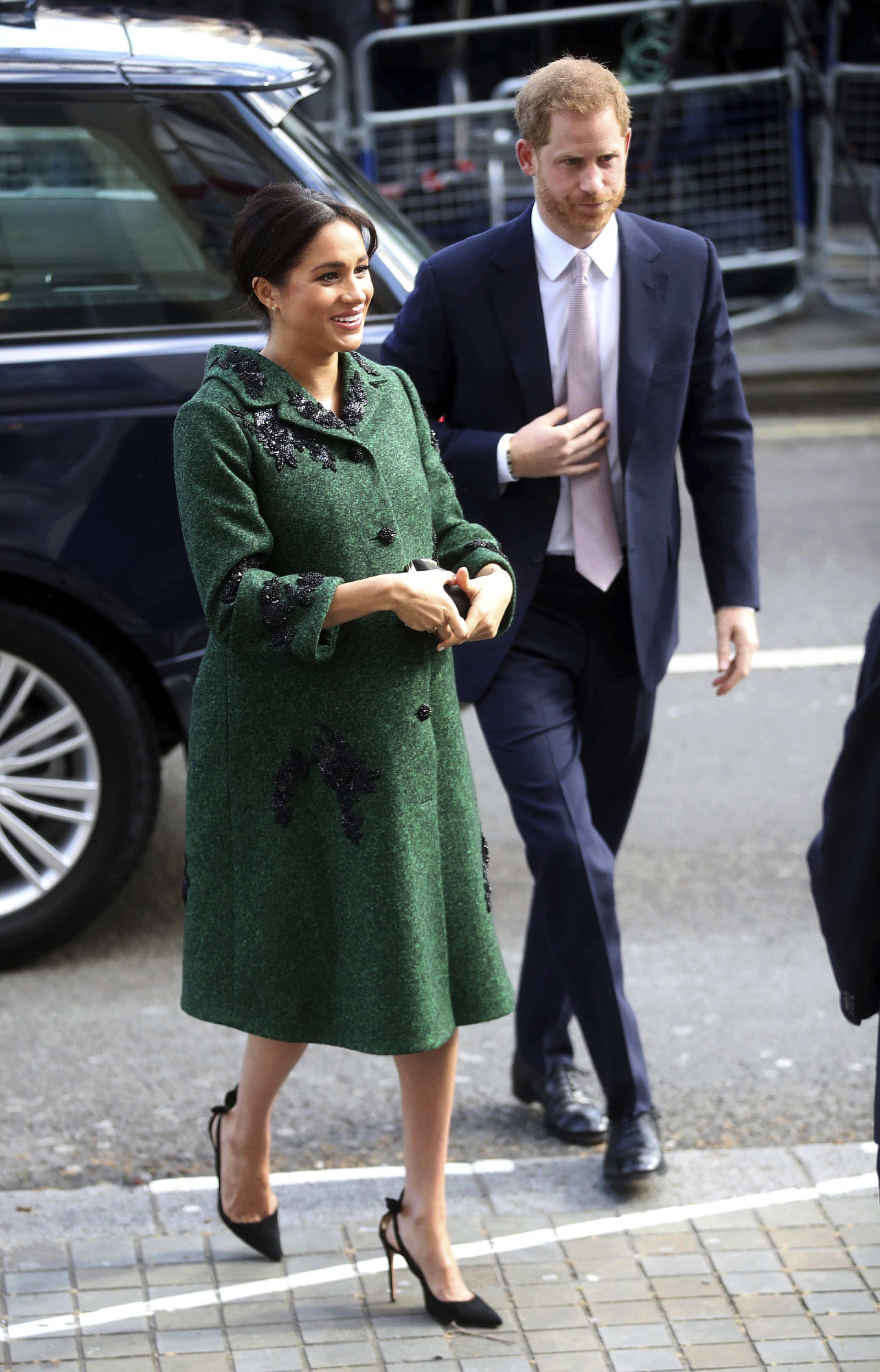 Britain's Prince Harry and Meghan, Duchess of Sussex arrive for the Commonwealth Day Youth Event at Canada House