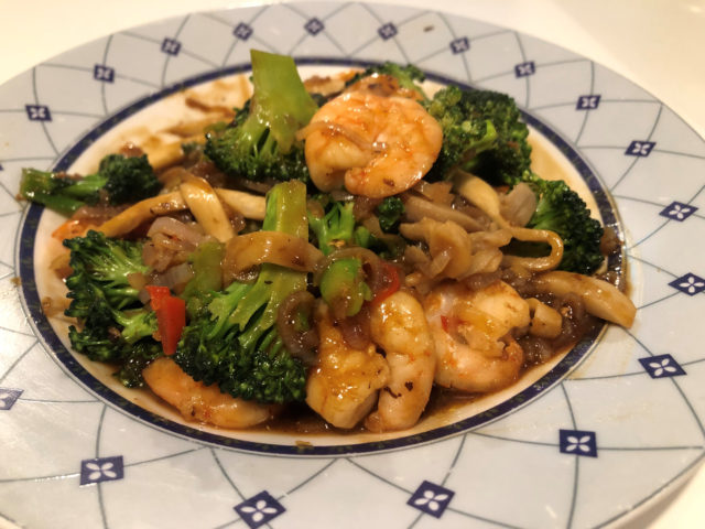 King prawn and broccoli stir fry (Lauren Taylor/PA)