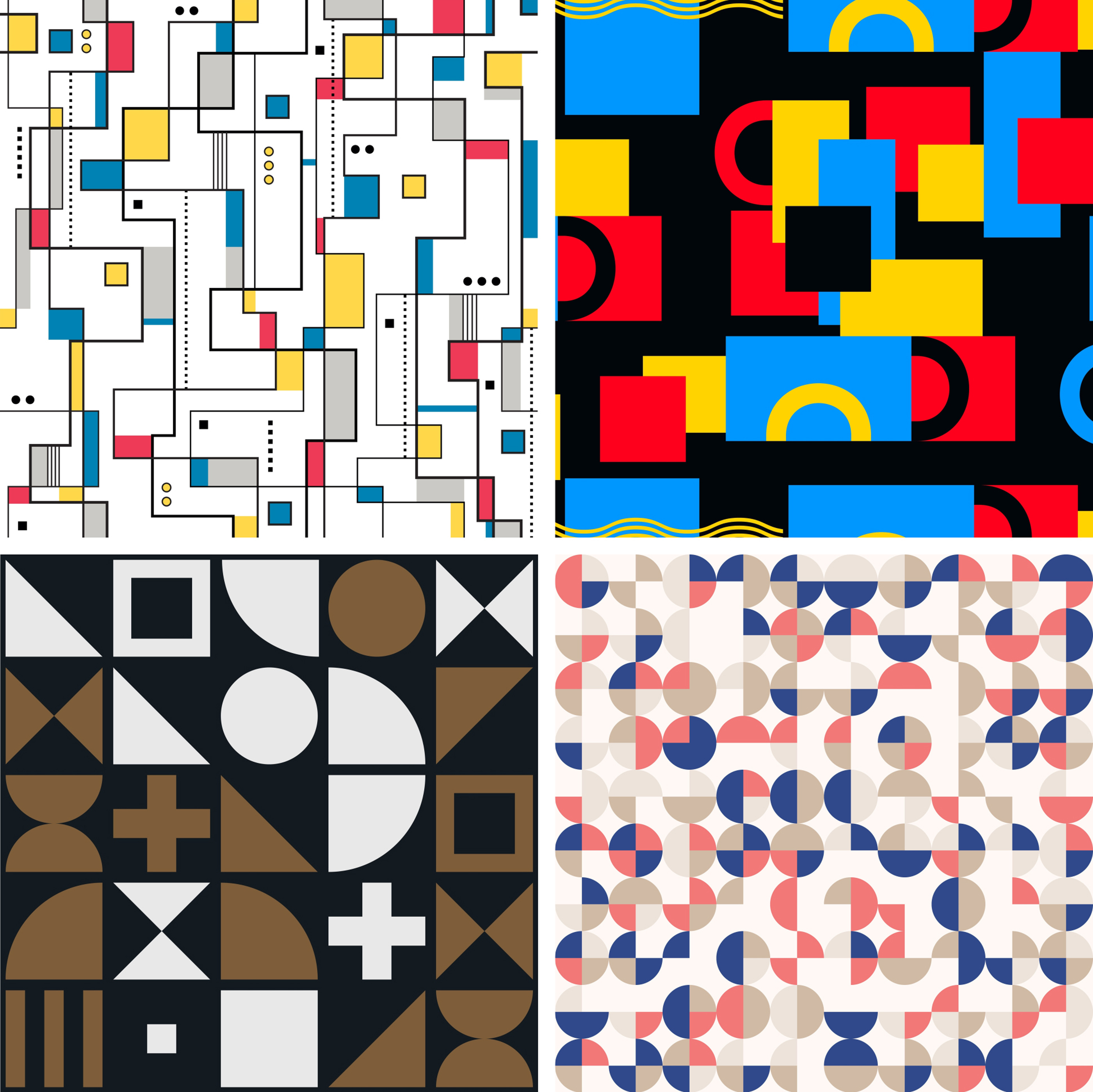 A collage of Bauhaus designs