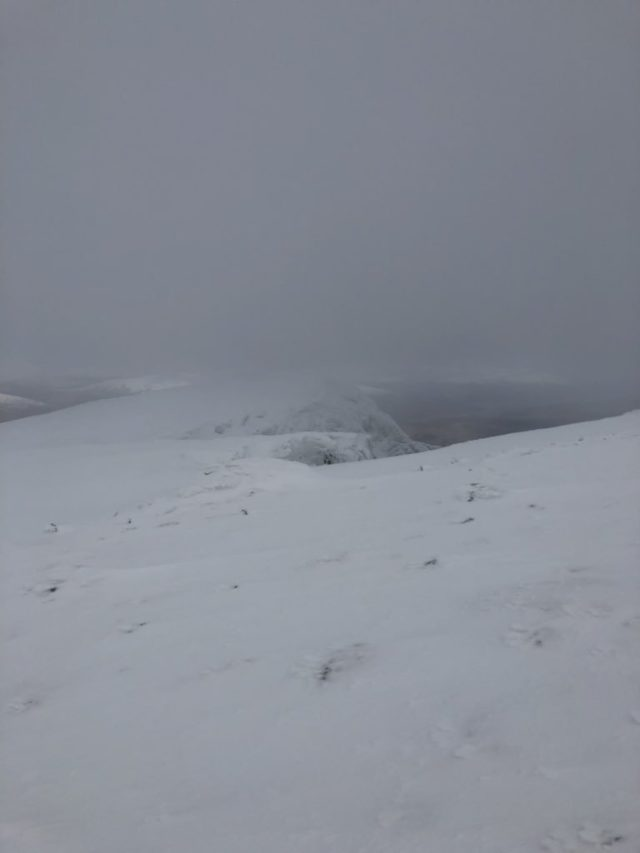 The view near the summit of Ben Nevis on Friday