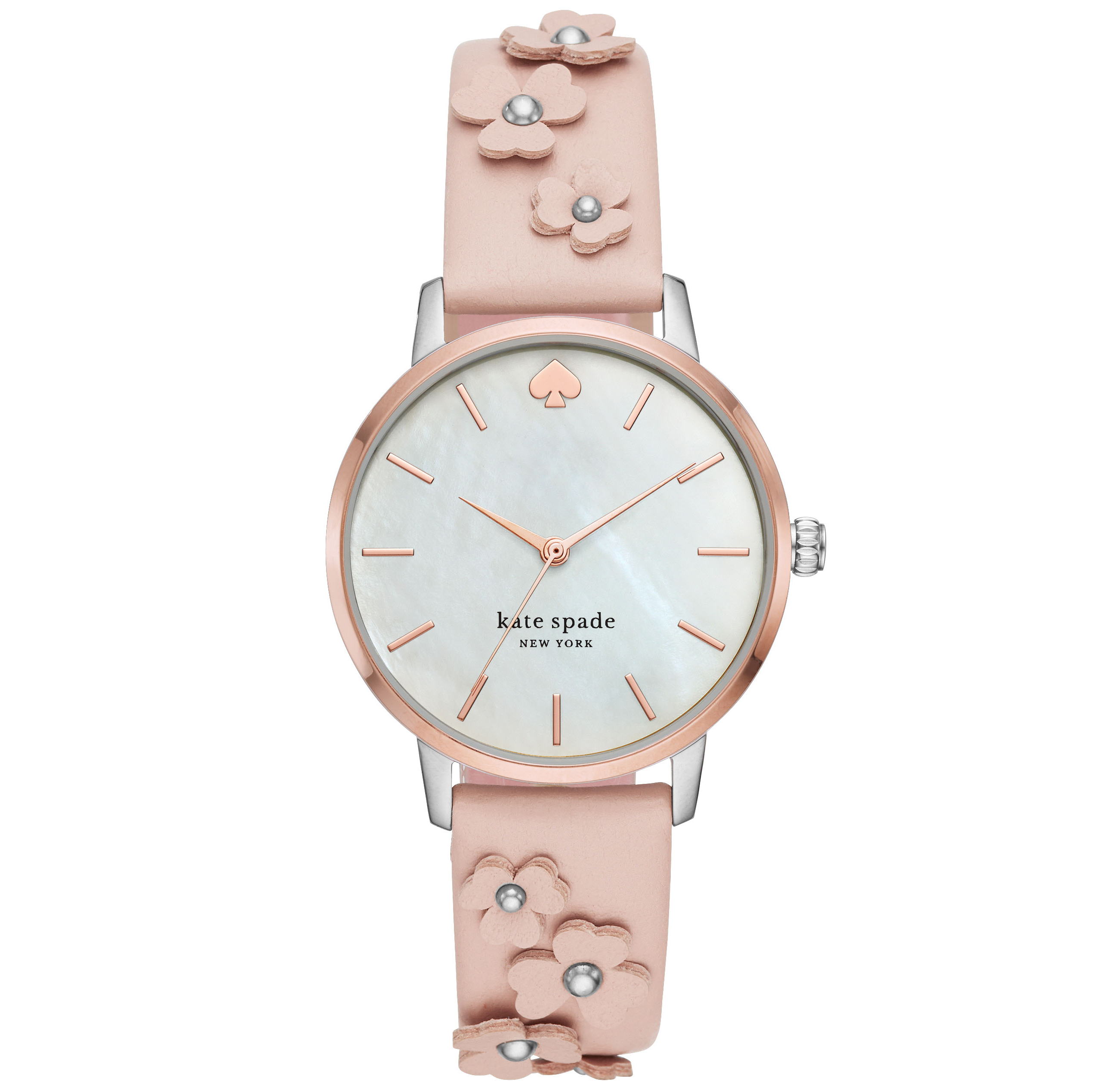 Kate Spade Metro Floral Vachetta Leather Watch