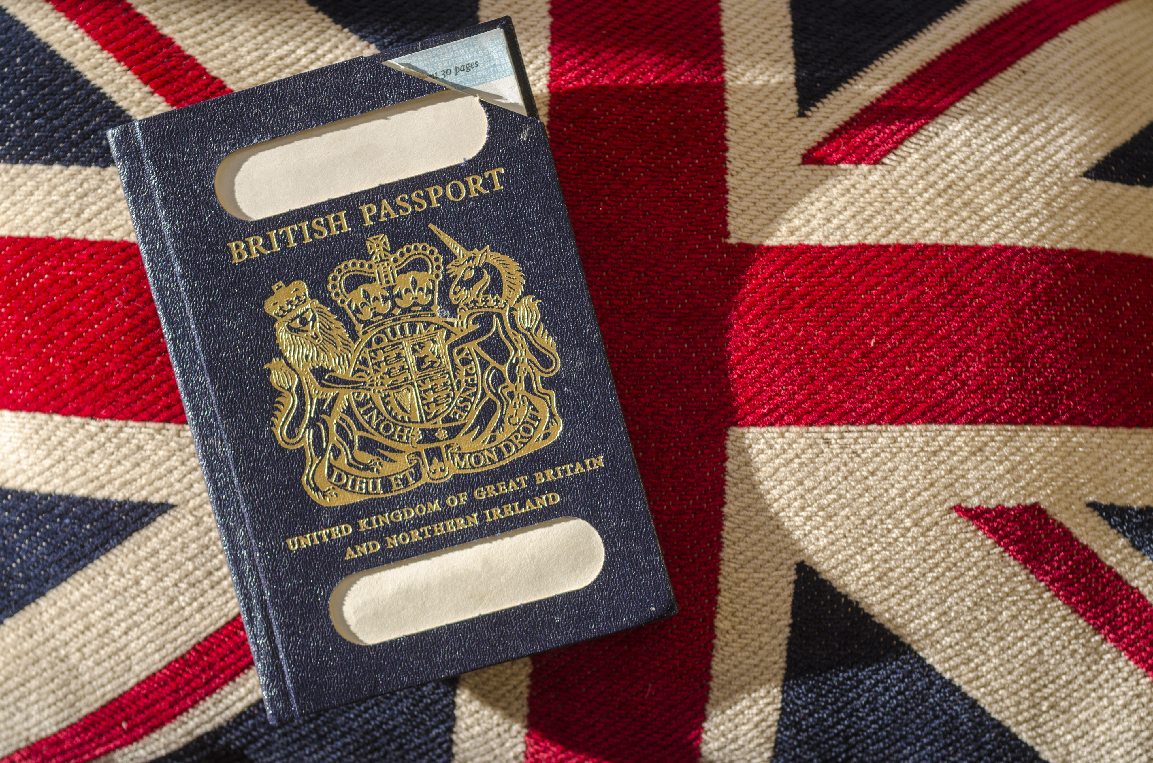 Expired blue passport