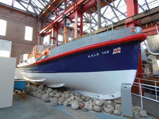 The lifeboat in the Scottish Marine Museum in Ayr