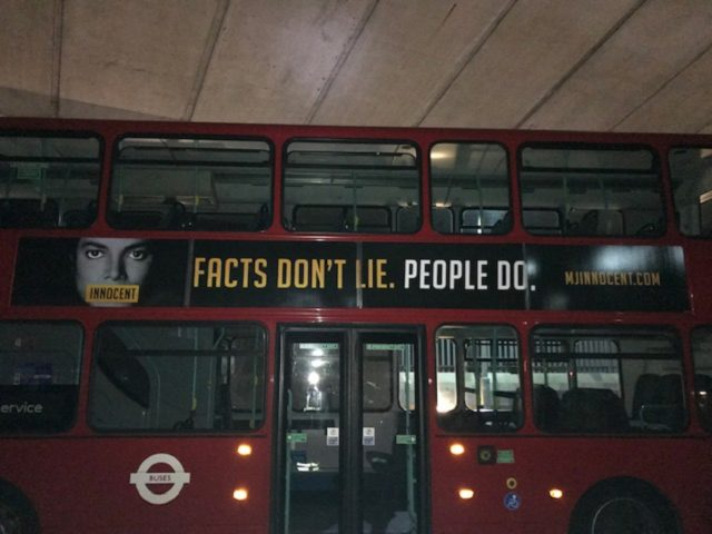 The posters read: 'Facts don't lie. People do'