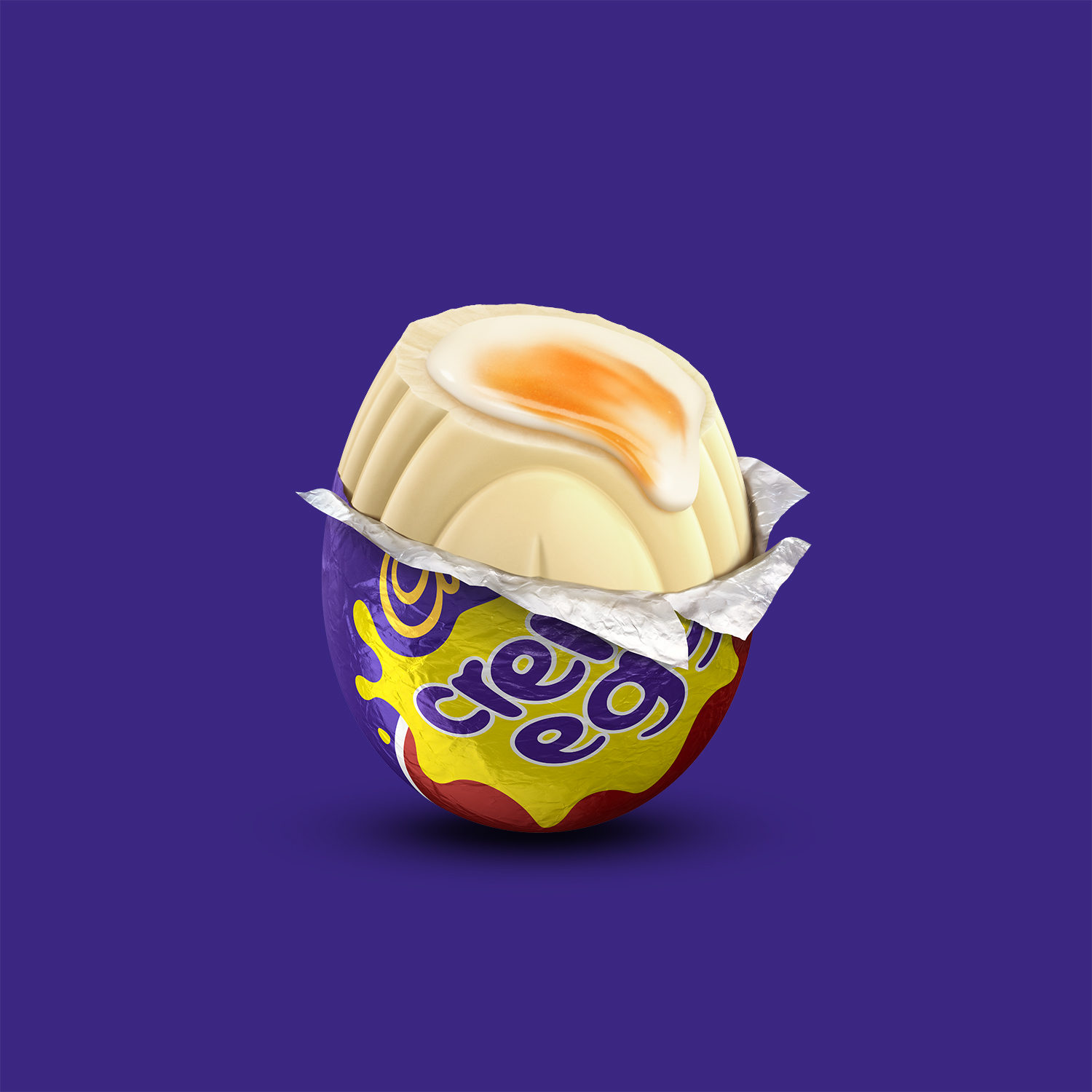 A white Cadbury Creme Egg