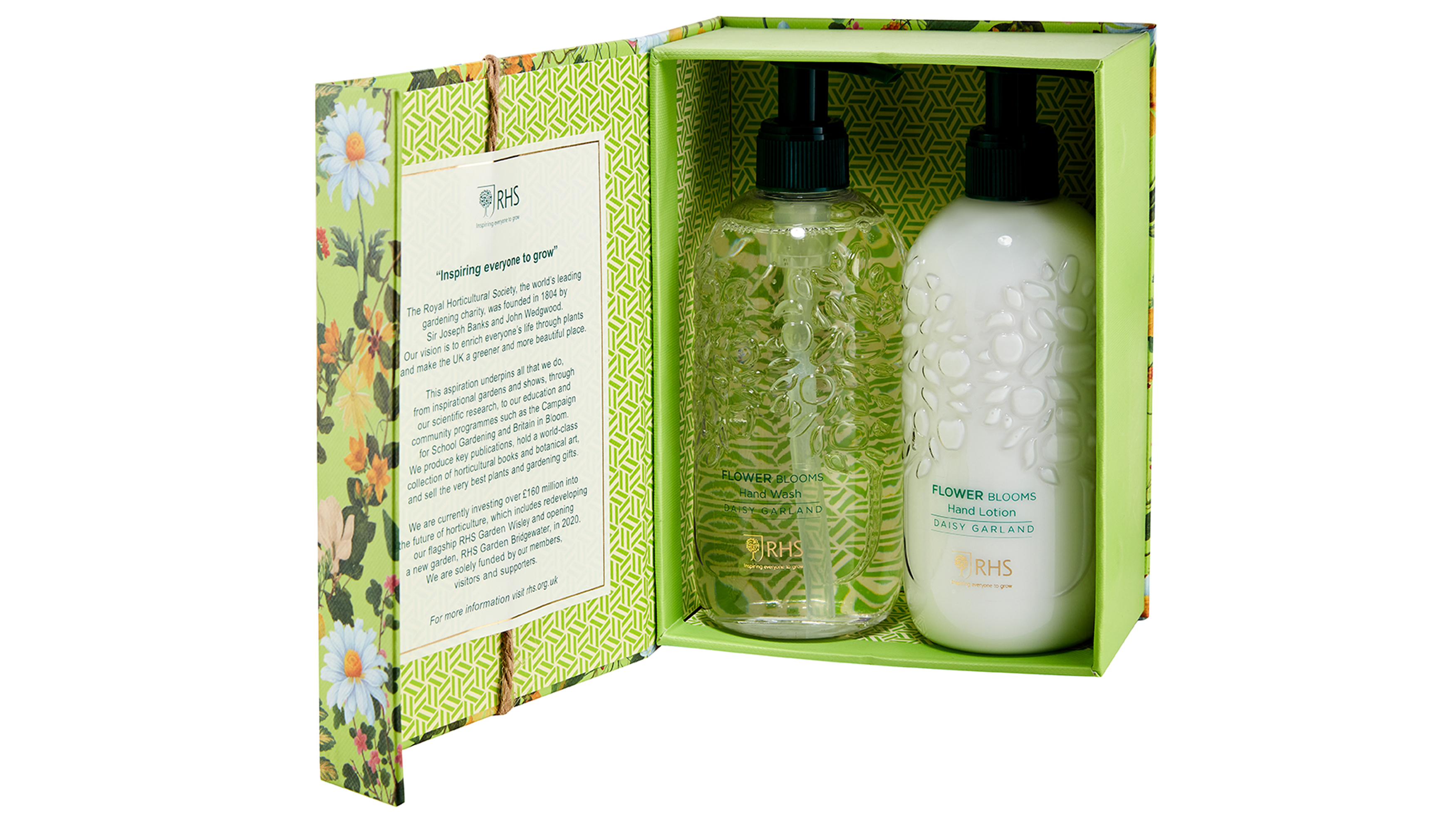 RHS Daisy Garland Hand Wash And Lotion Duo