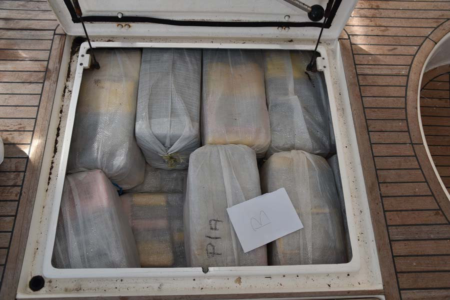 The drugs were hidden inside the yacht (National Crime Agency/PA).