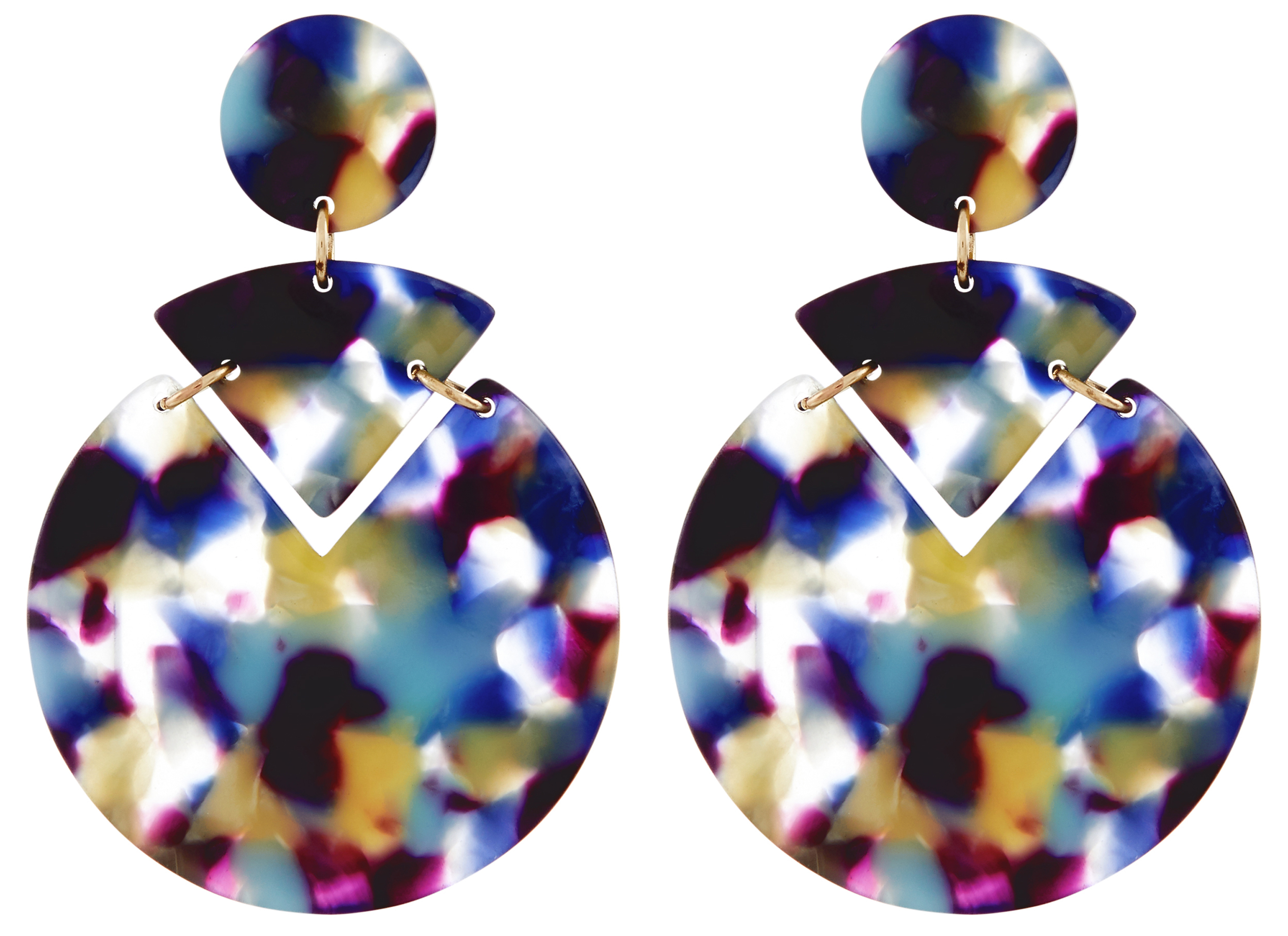 Accessorize Colour Block Resin Earrings