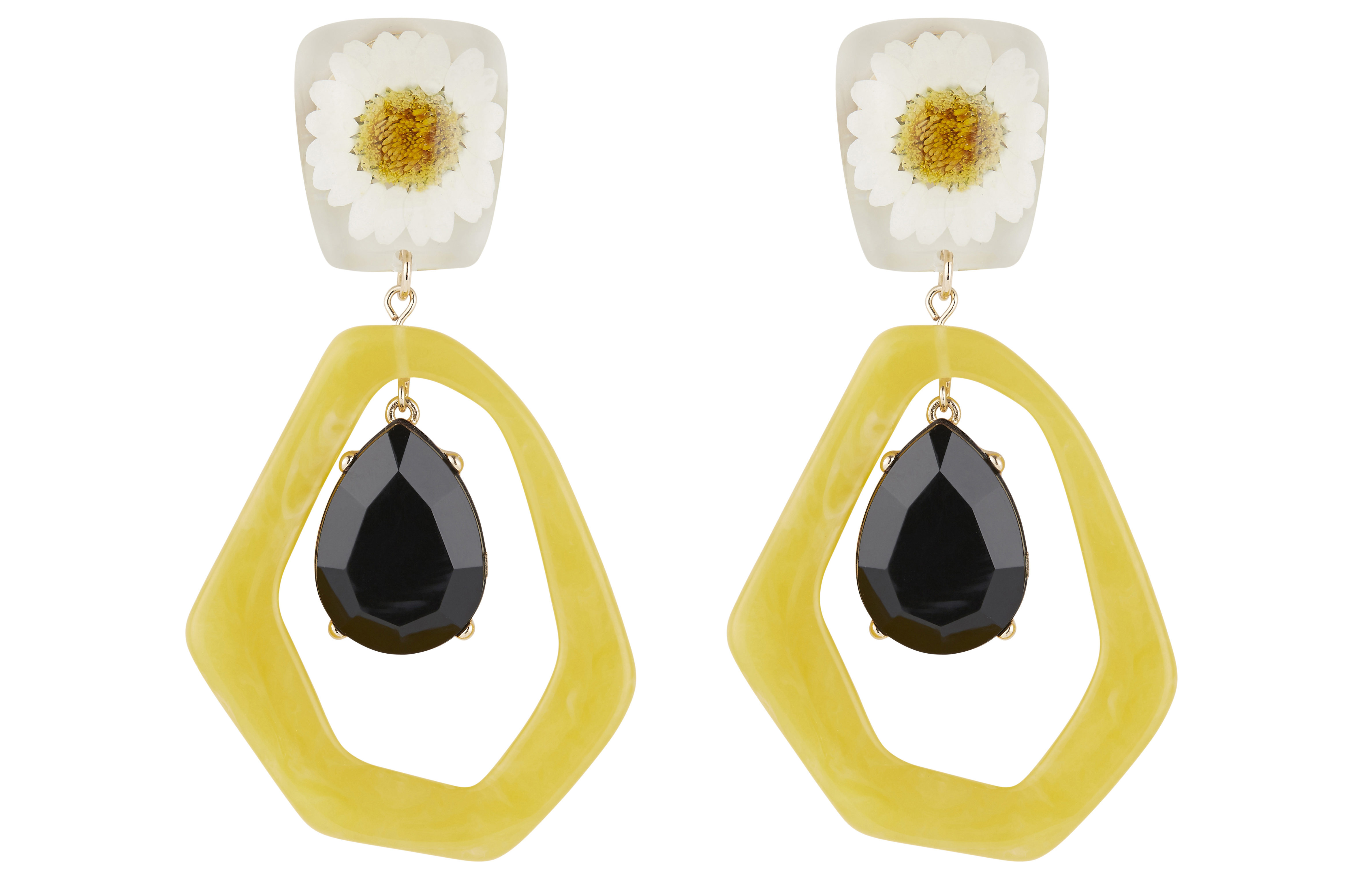 Marks and Spencer Collection Flower Drop Earrings