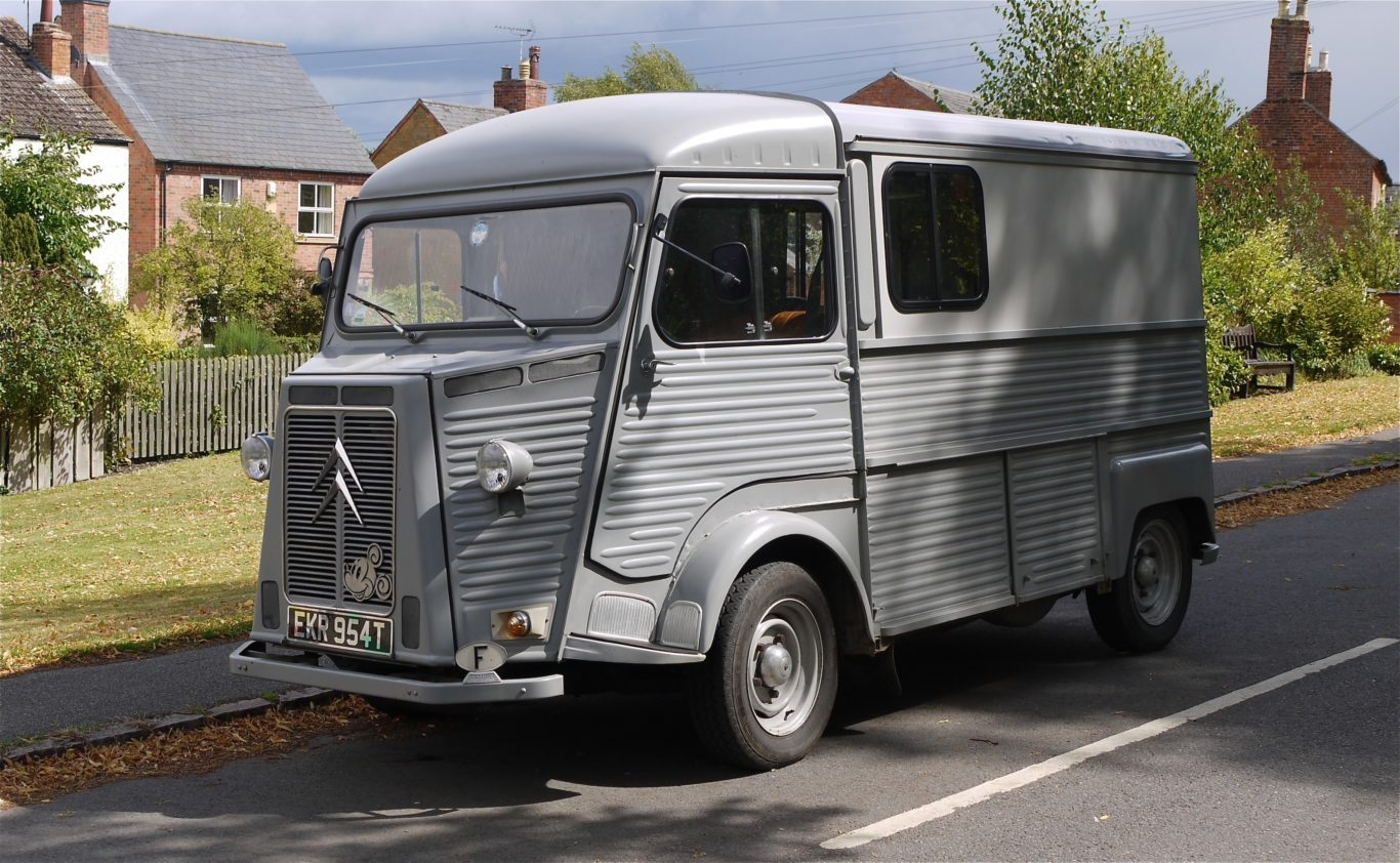 The Citroen HY is a familiar sight at music festivals