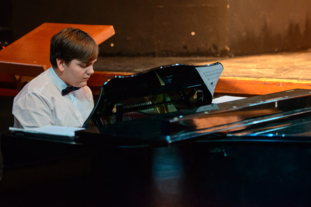 Christian Blandford playing piano