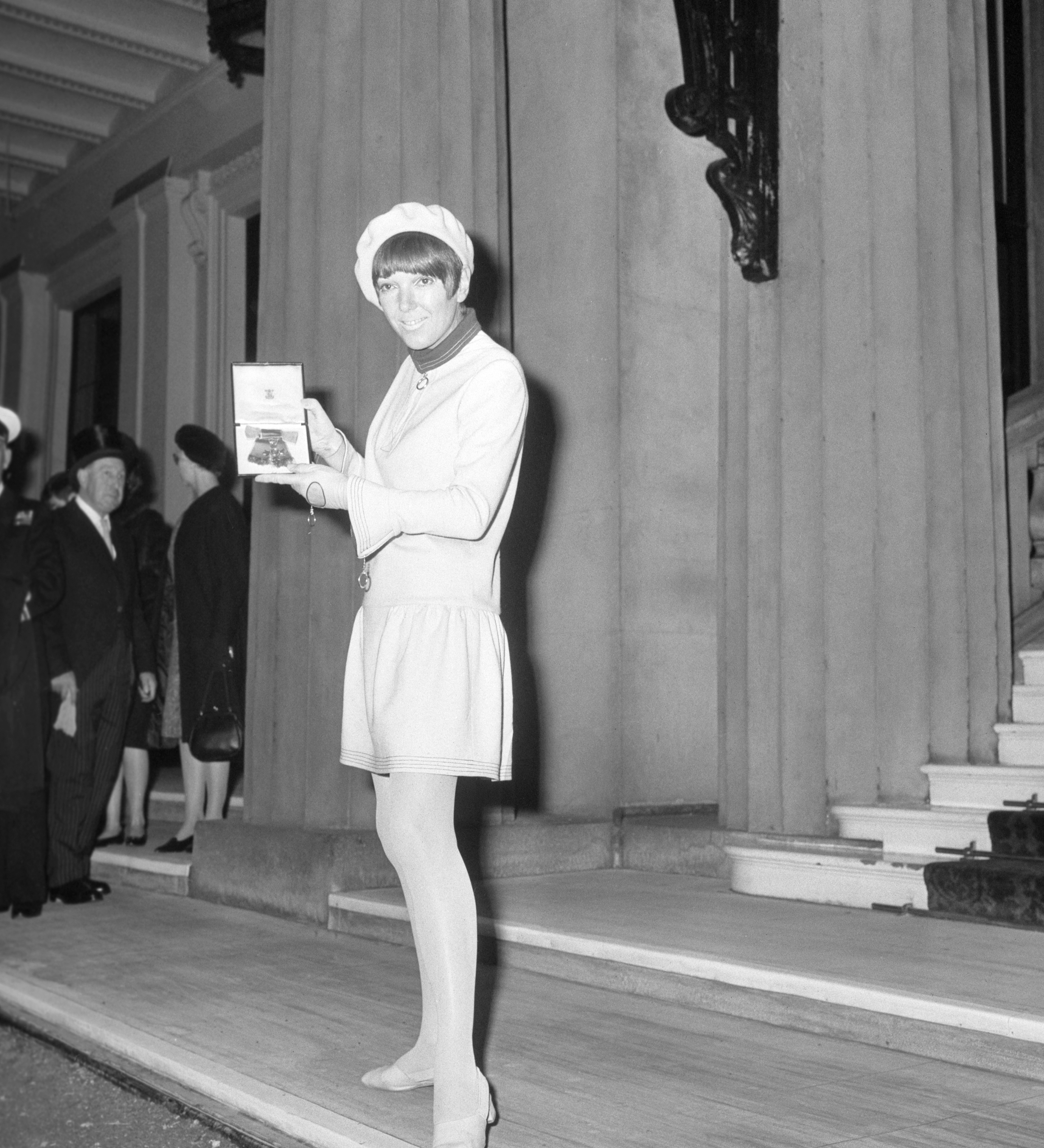 Mary Quant receives an OBE