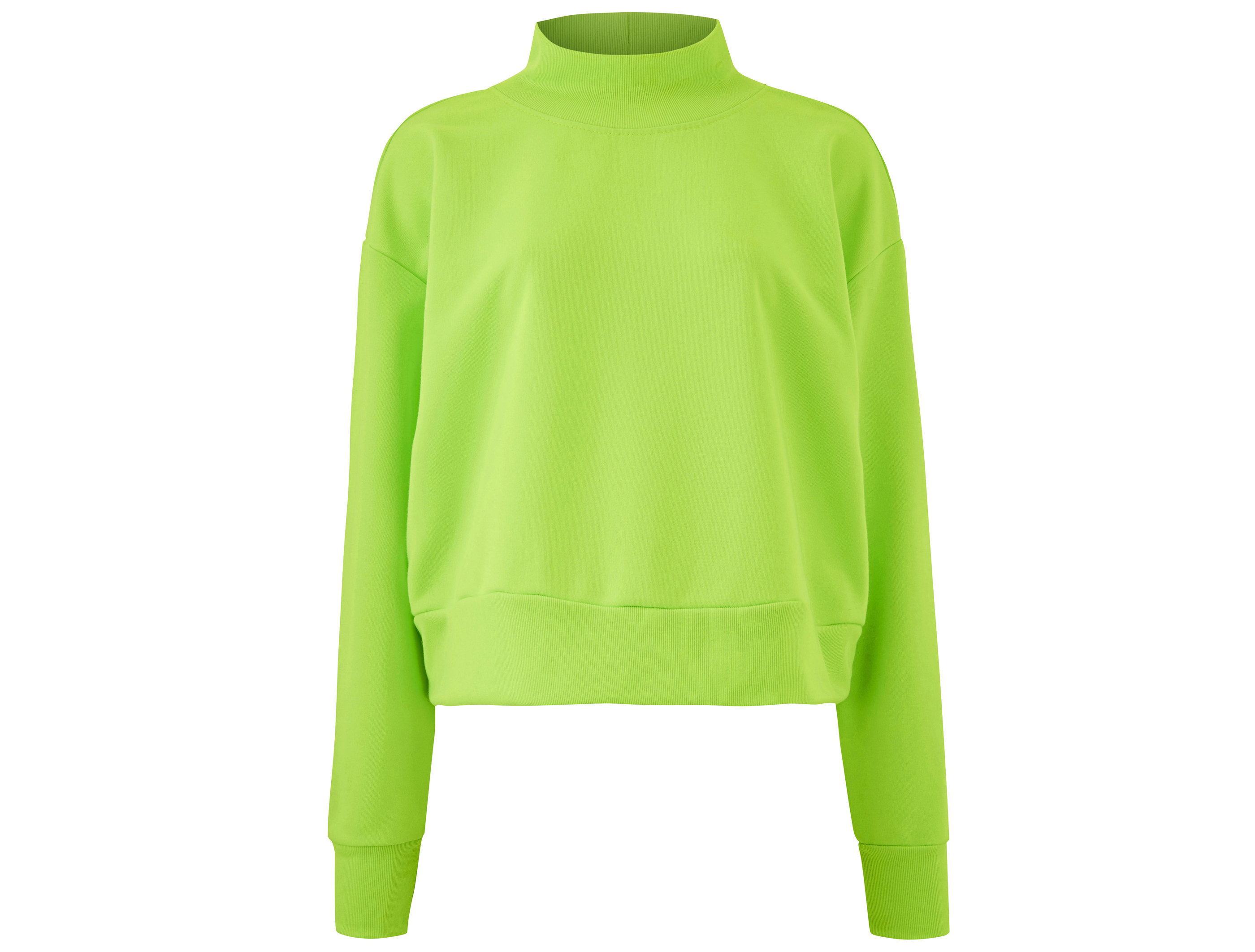 Simply Be Cropped Neon Lime Sweatshirt