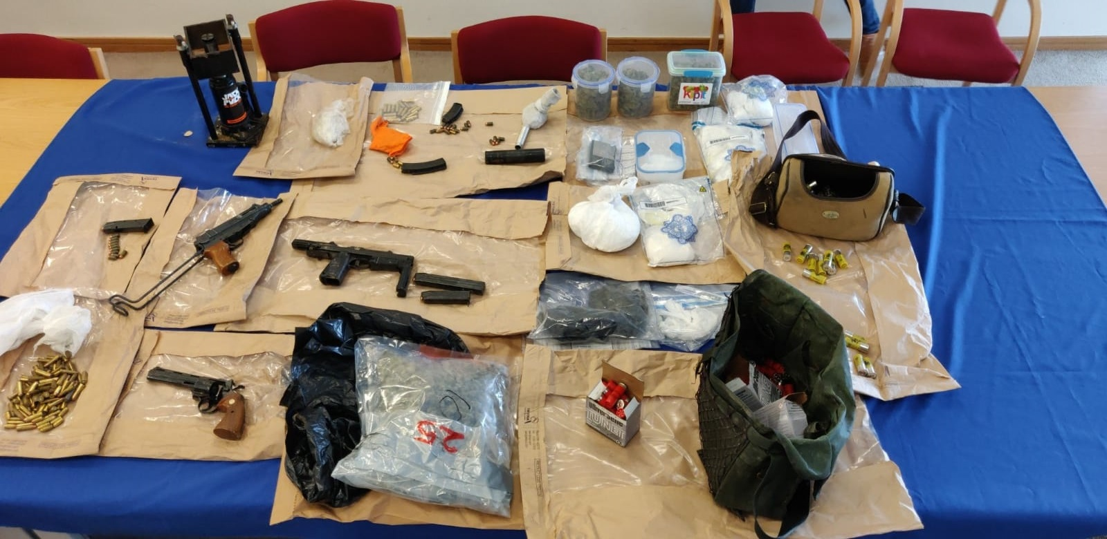 Items seized in the raid