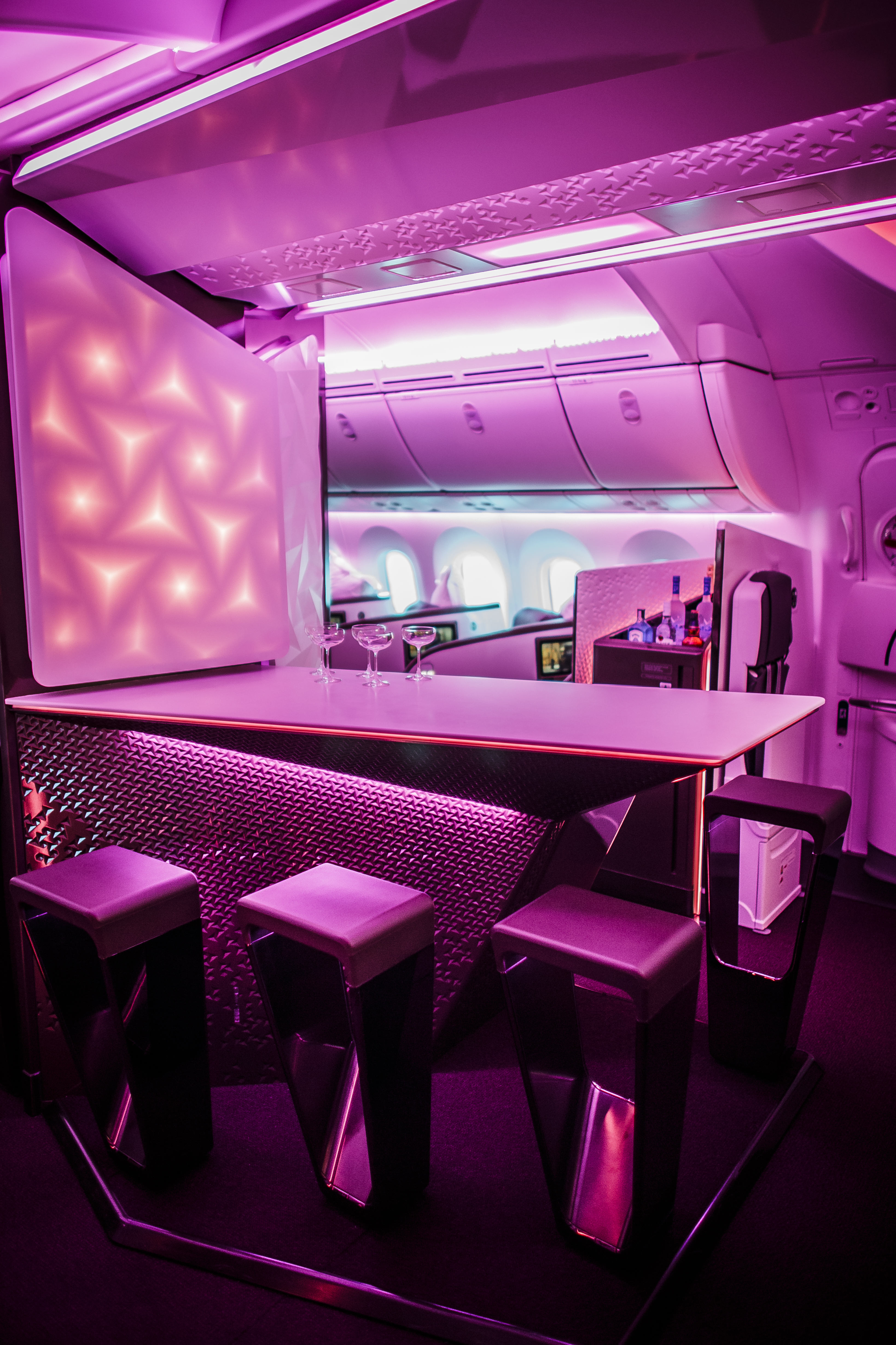 Virgin Atlantic replaces on-board bar with comfortable