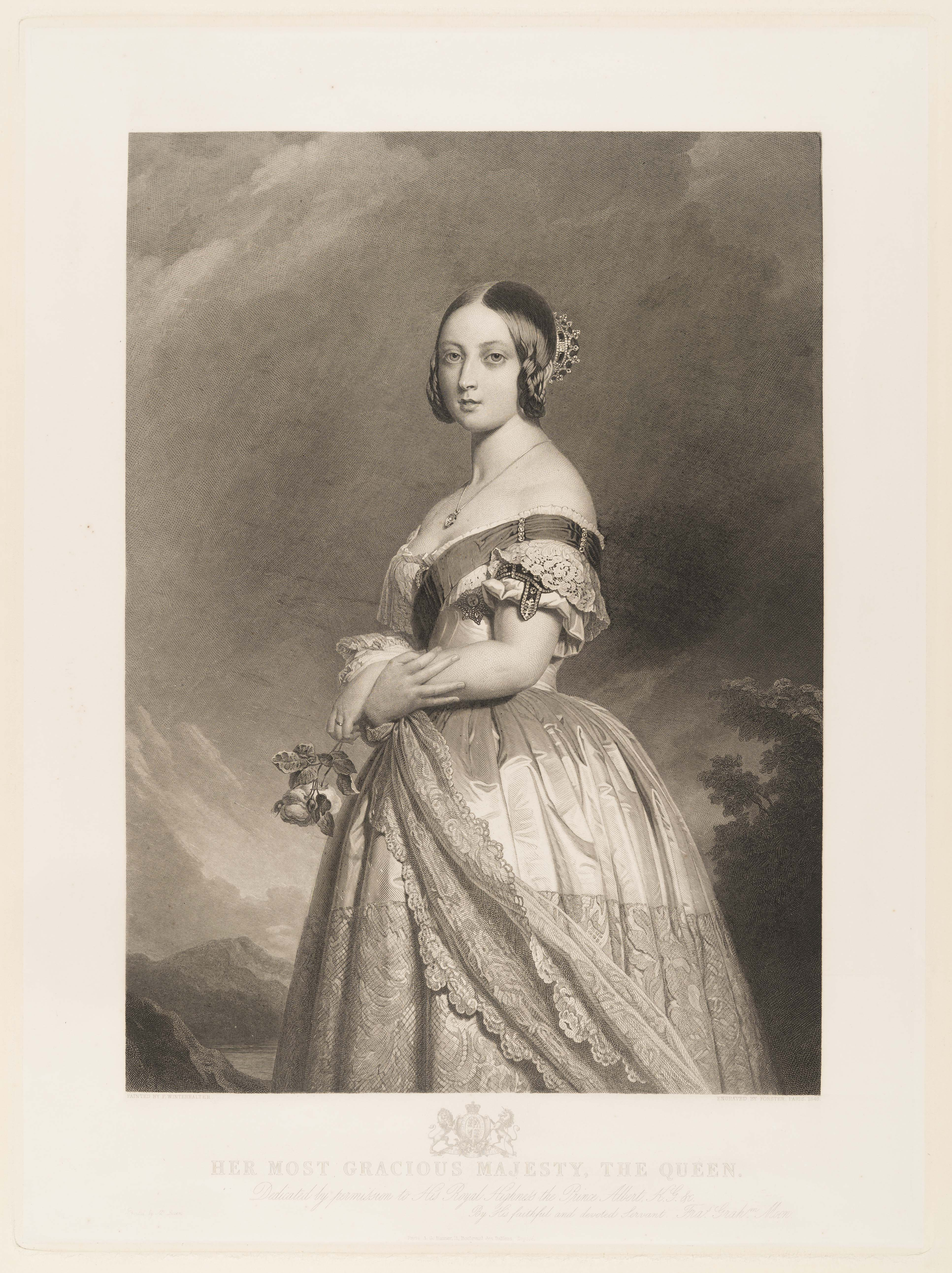 Queen Victoria, Francois Forster, 846, after Franz Xaver Winterhalter(1805-73)