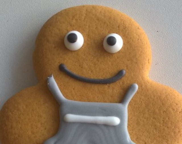 The gingerbread person concept image