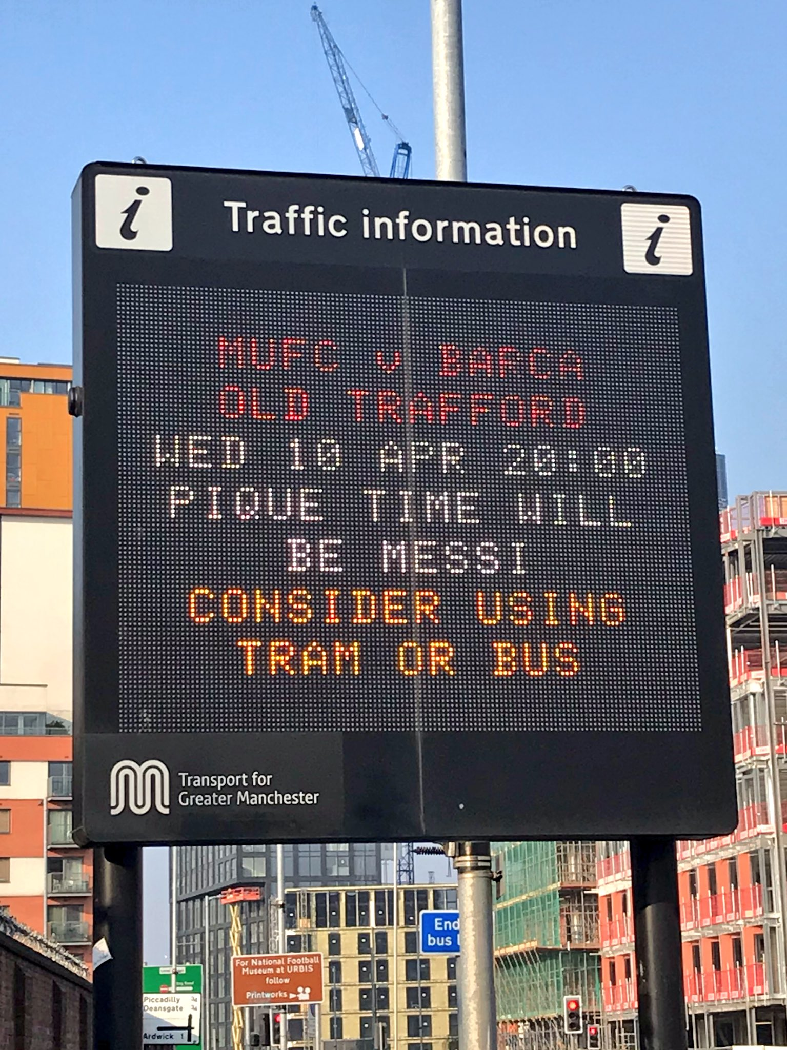 A Manchester road sign on Rochdale Road, Manchester