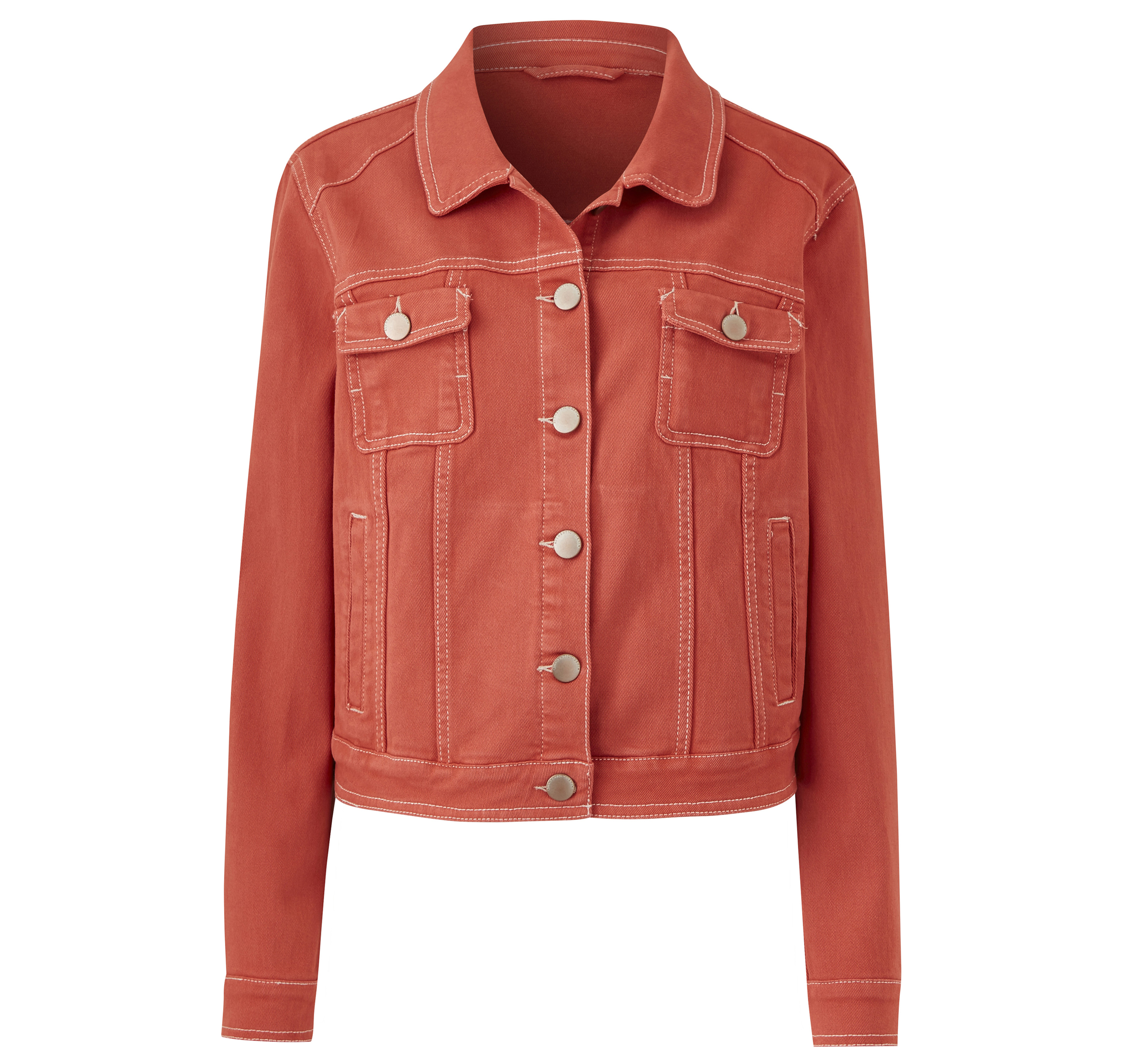 JD Williams Terracotta Western Style Denim Jacket