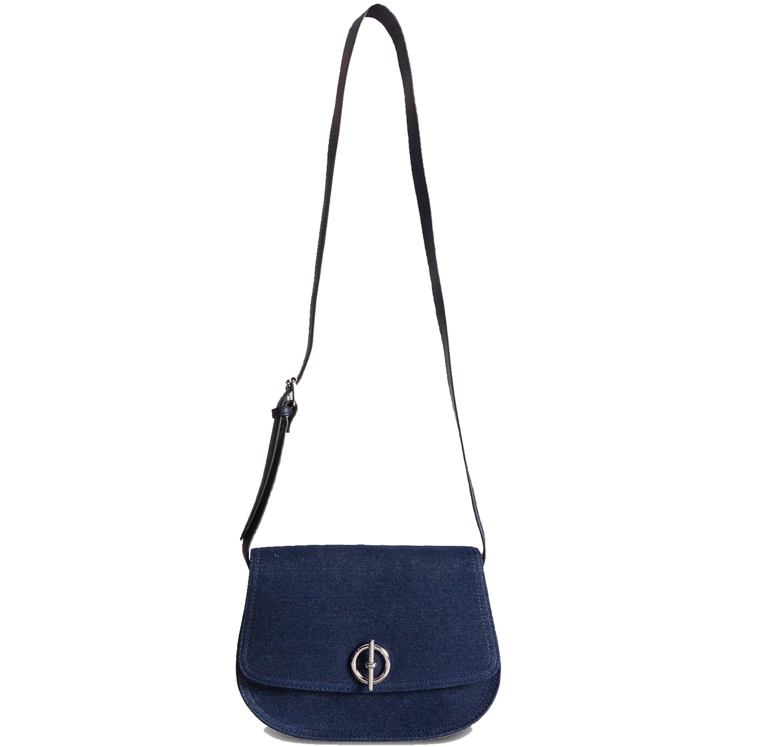Tu at Sainsbury's Navy Denim Saddle Bag