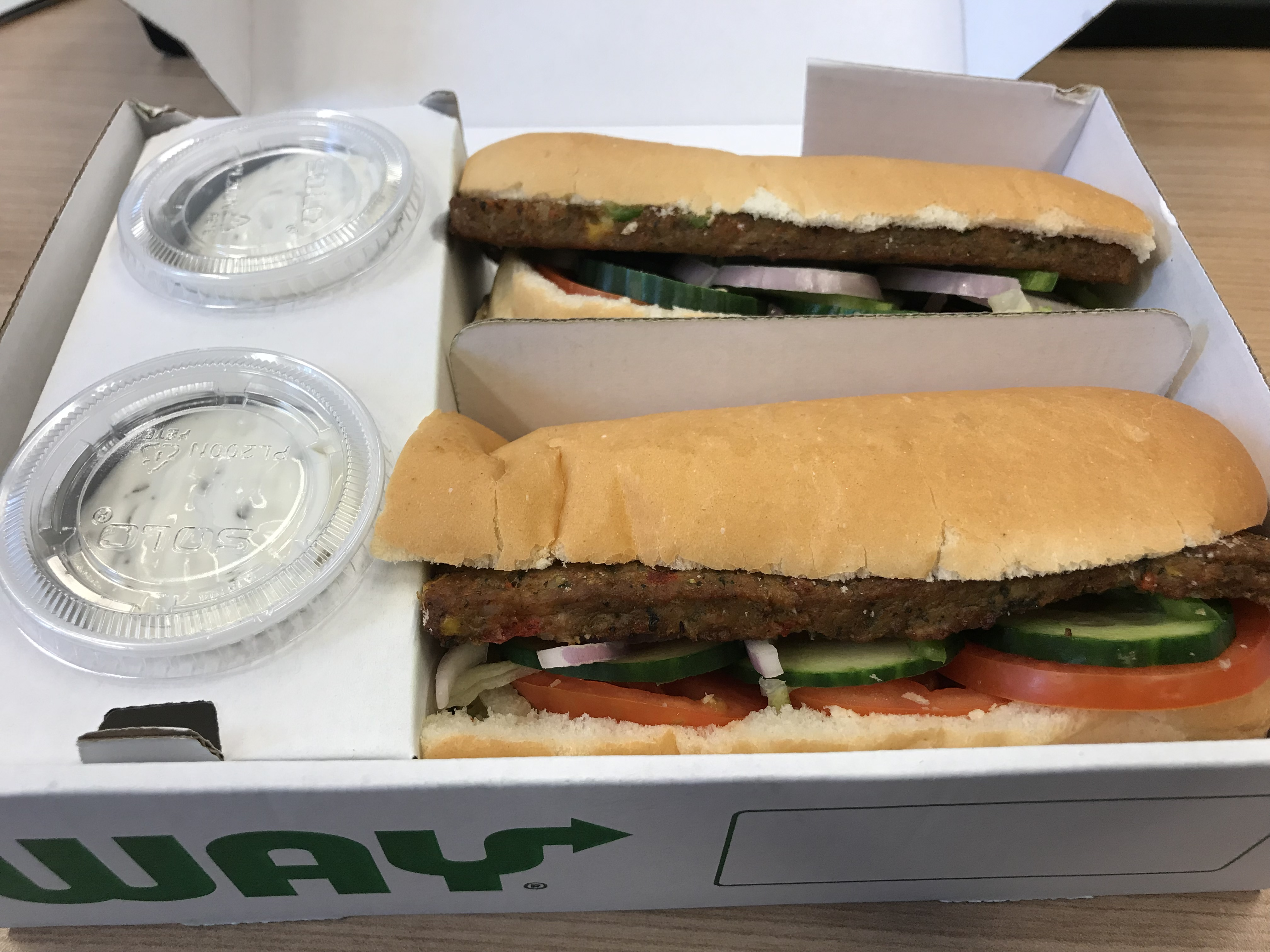 Subway's new vegan sub offering (Ella Walker/PA)