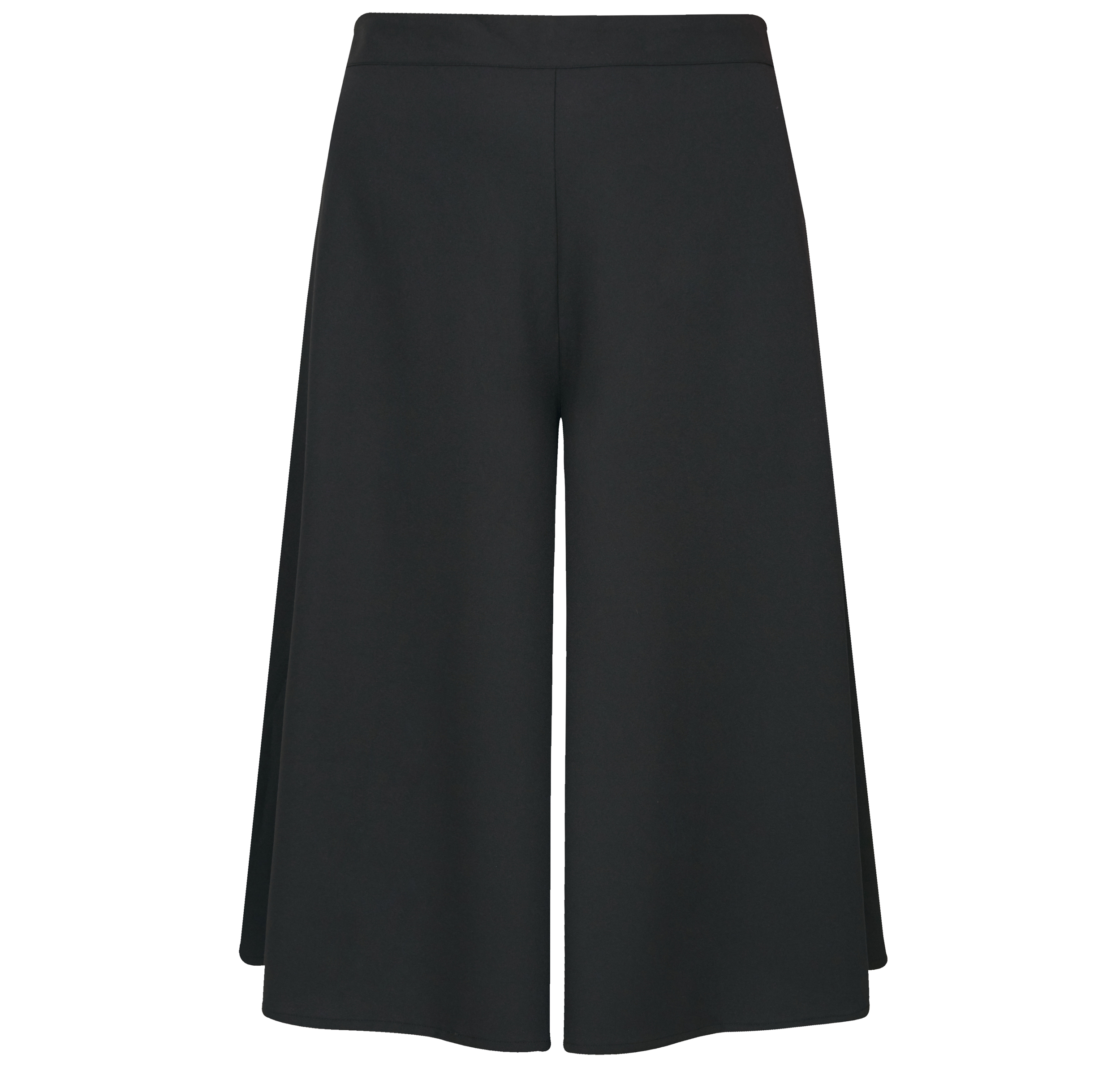 Yours Clothing Black Wide Leg Culottes