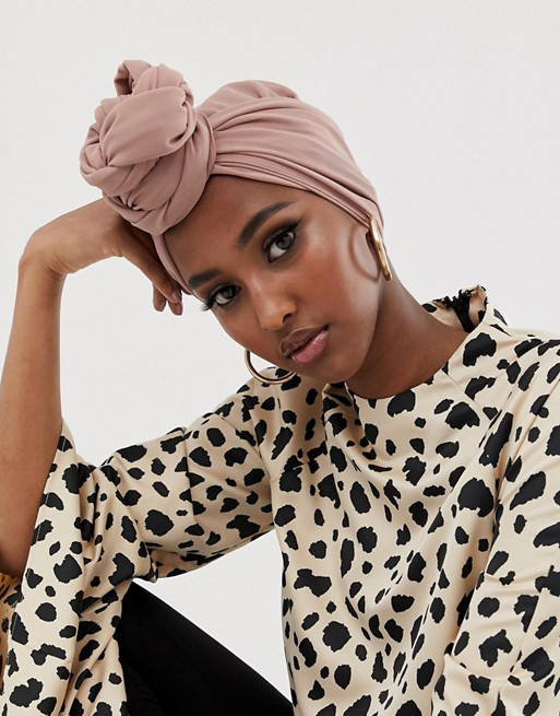 Verona chiffon maxi headscarf in dusty rose, £11 on ASOS