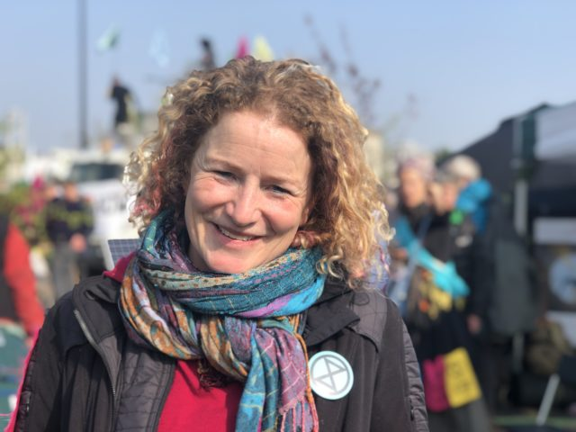 Extinction Rebellion demonstrator Sarah Henderson