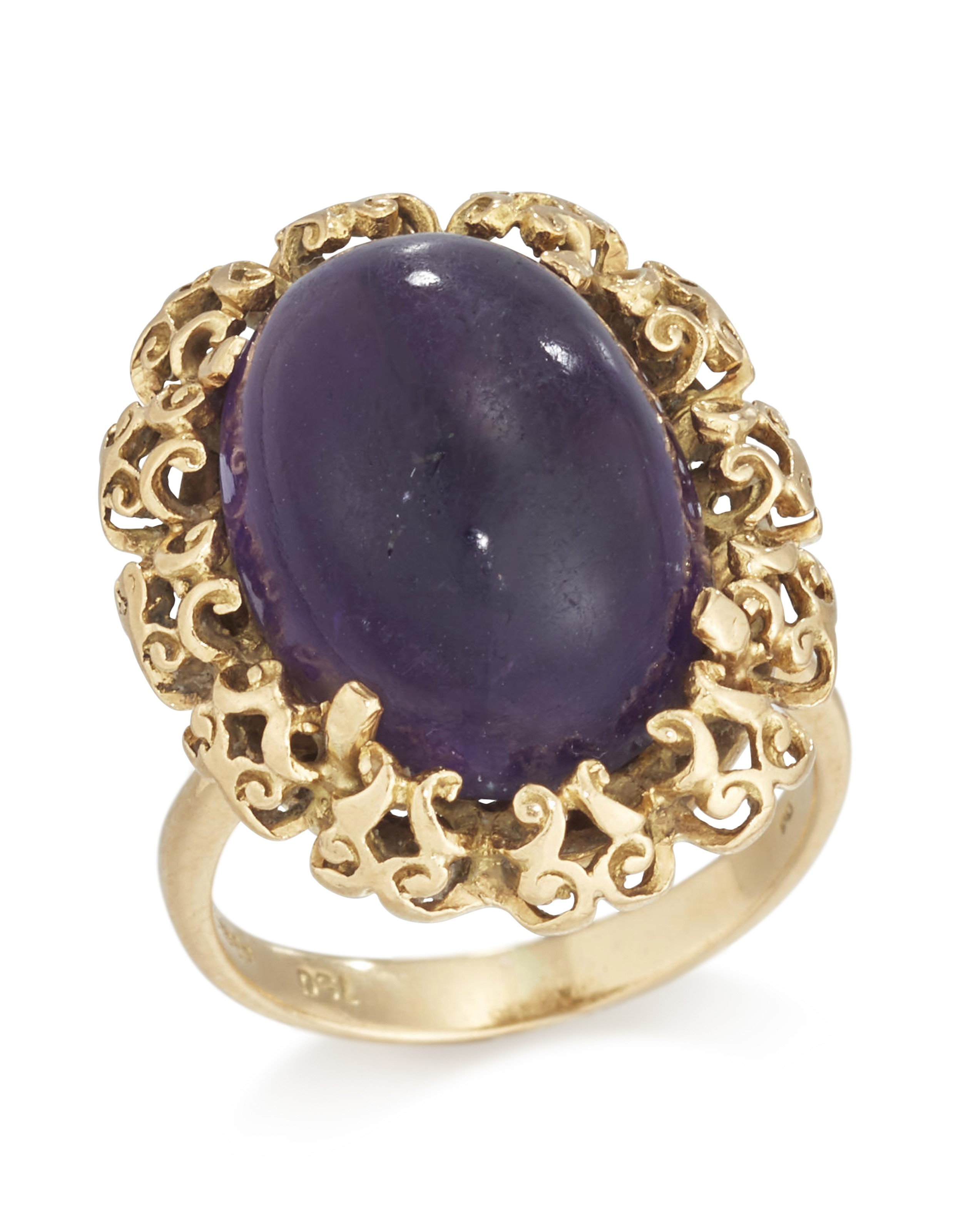 Margaret Thatcher's 18-carat gold and amethyst ring